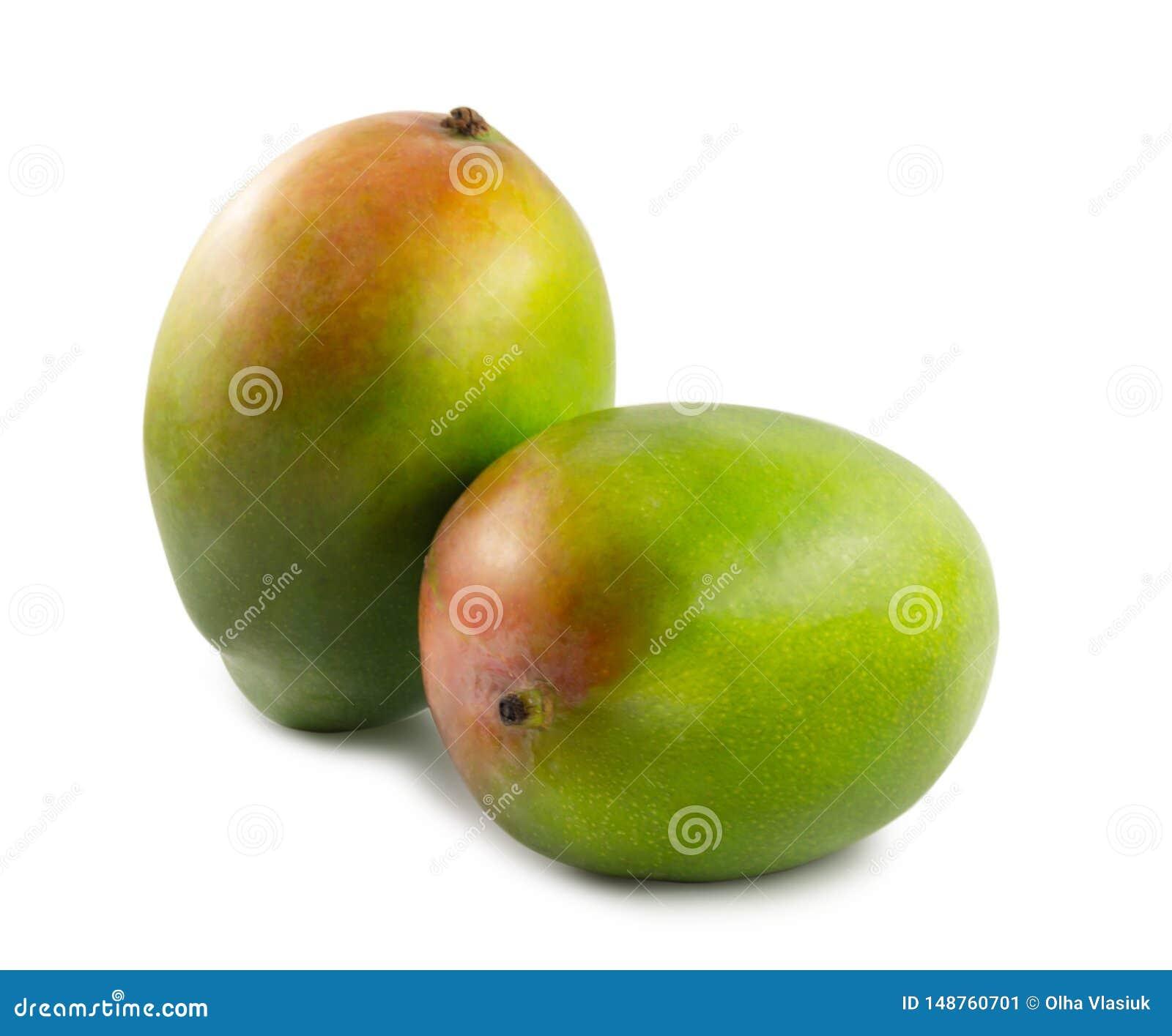Dwa mango odizolowywaj?cy na bia?ym tle