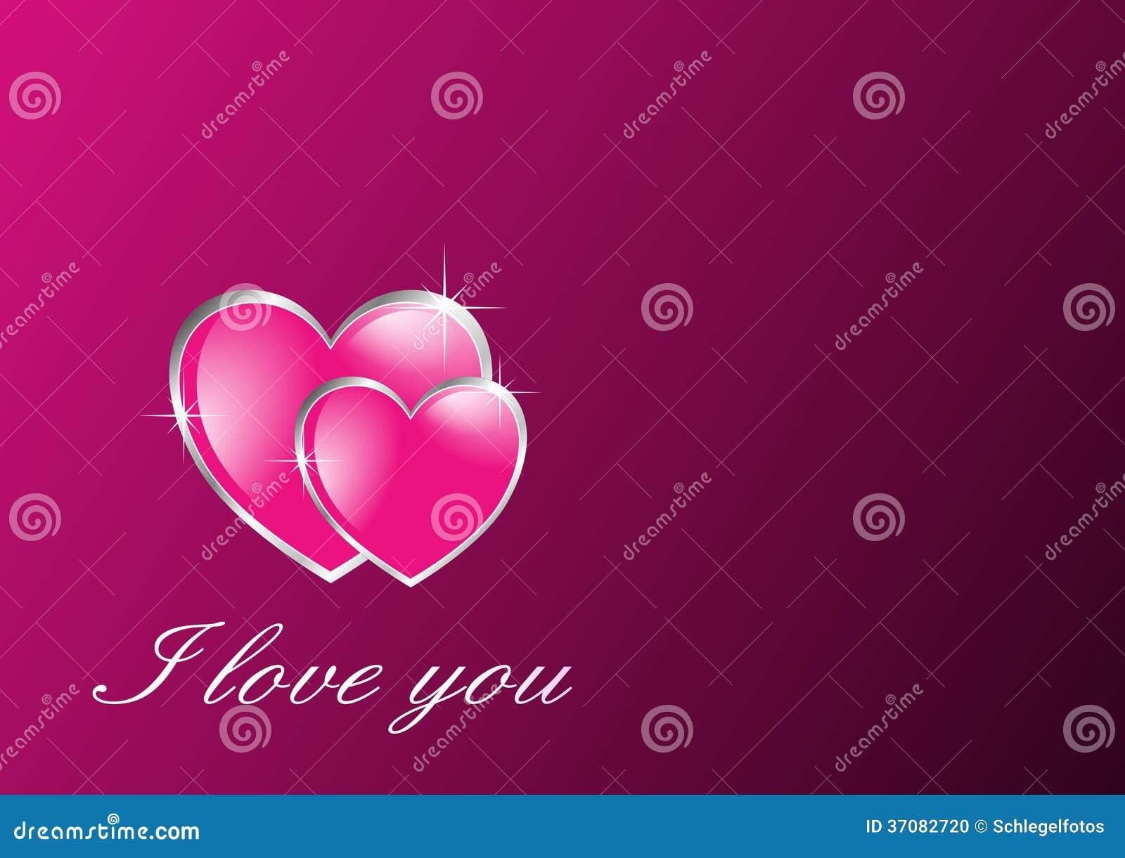 Download Dwa Menchii Miłości Serc Karta Ilustracji - Ilustracja złożonej z abstrakt, miłość: 37082720
