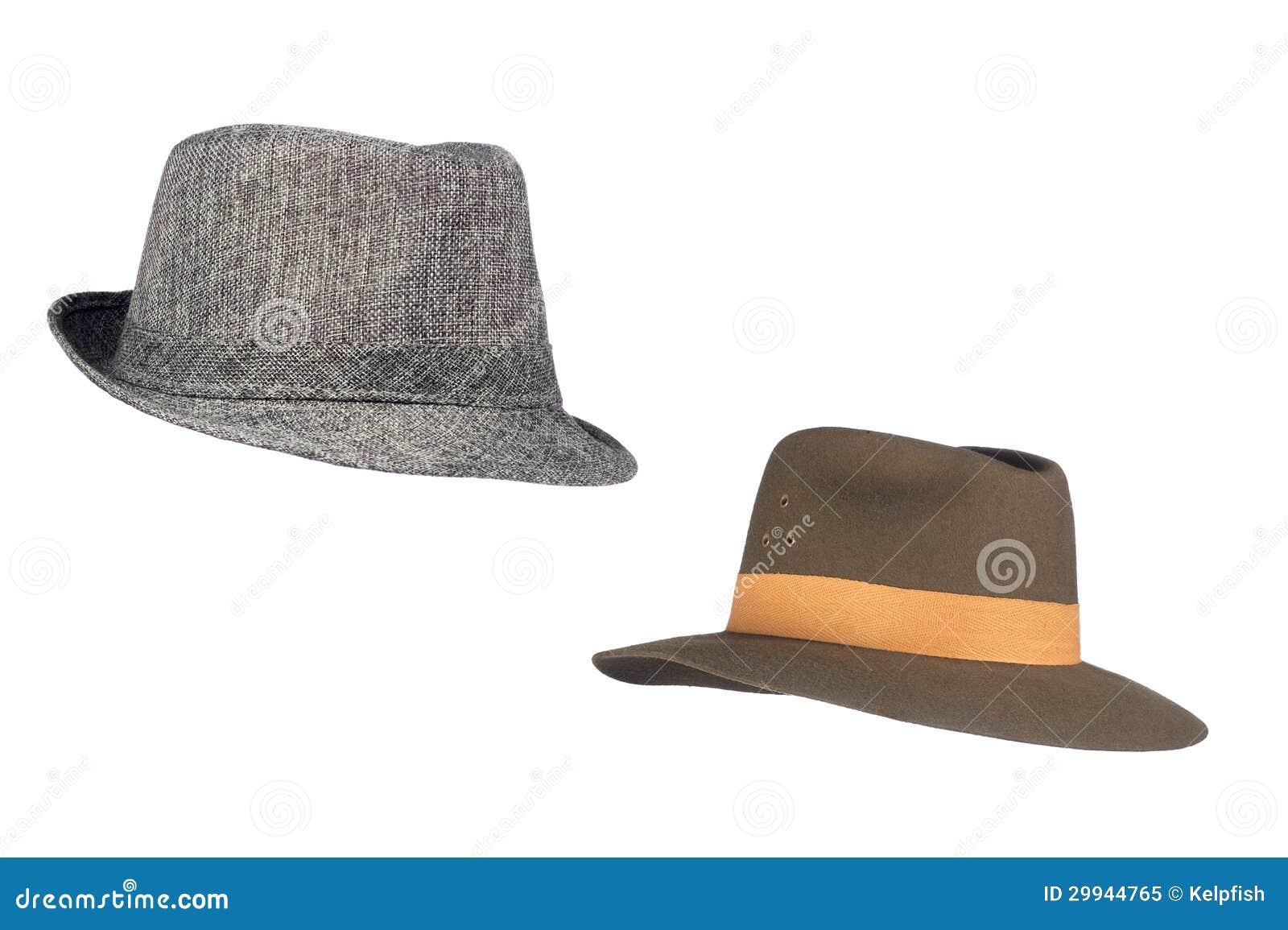 Fedora kapelusze na bielu