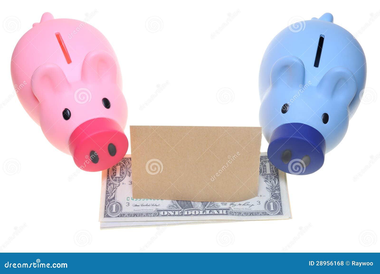 Dwa prosiątko banka