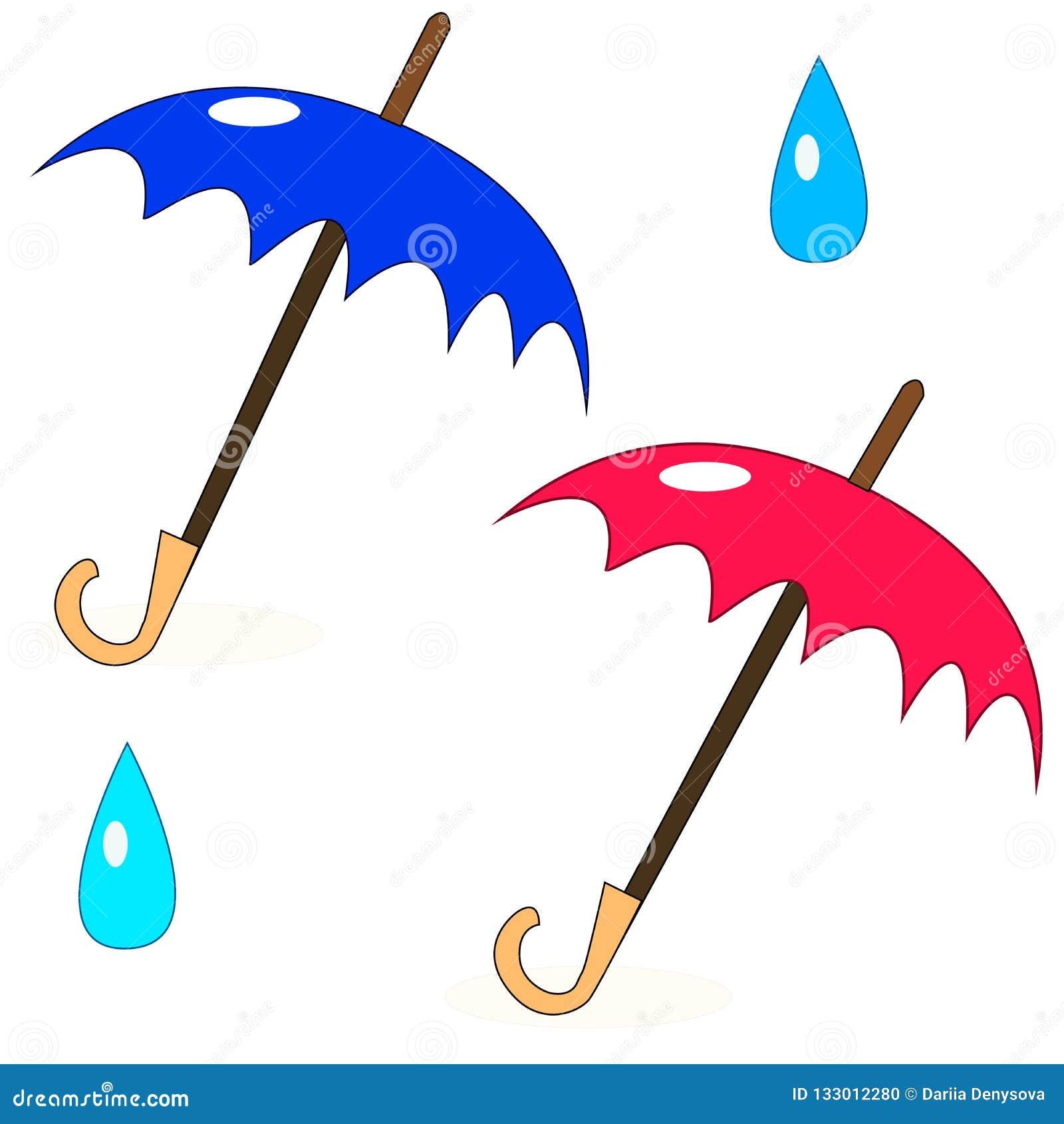 Dwa prostego parasola