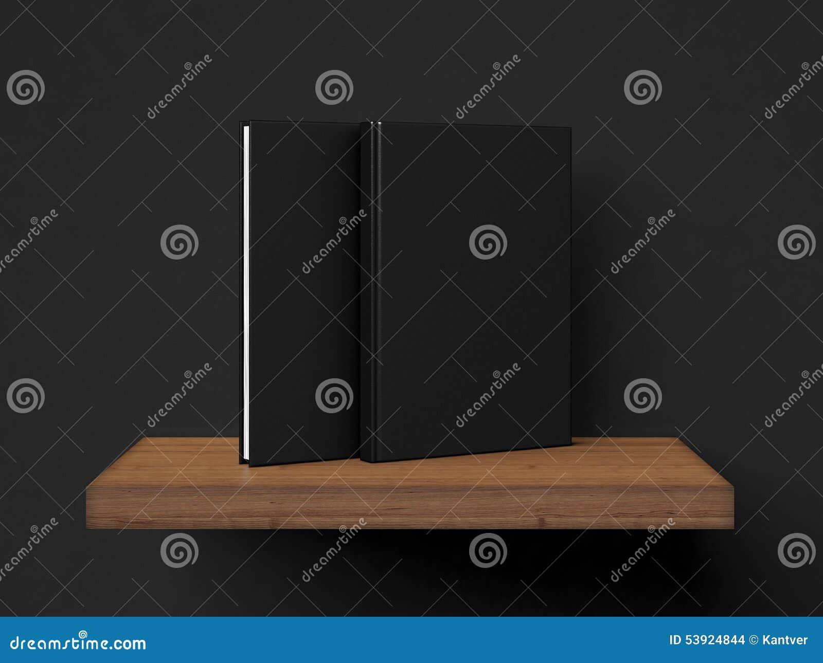 Dwa pustych miejsc książka na brown półce świadczenia 3 d