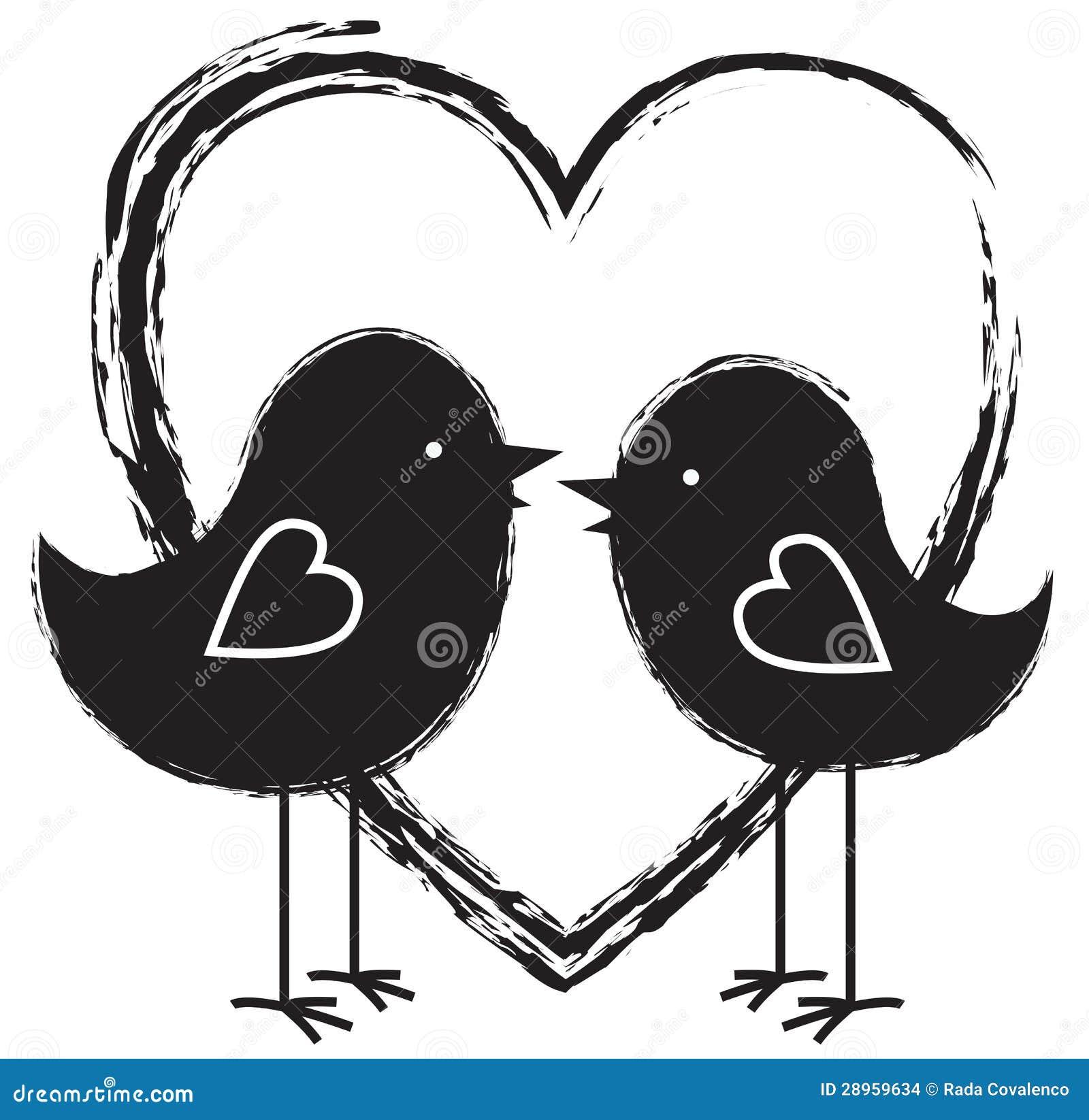 Dwa serca i ptaki