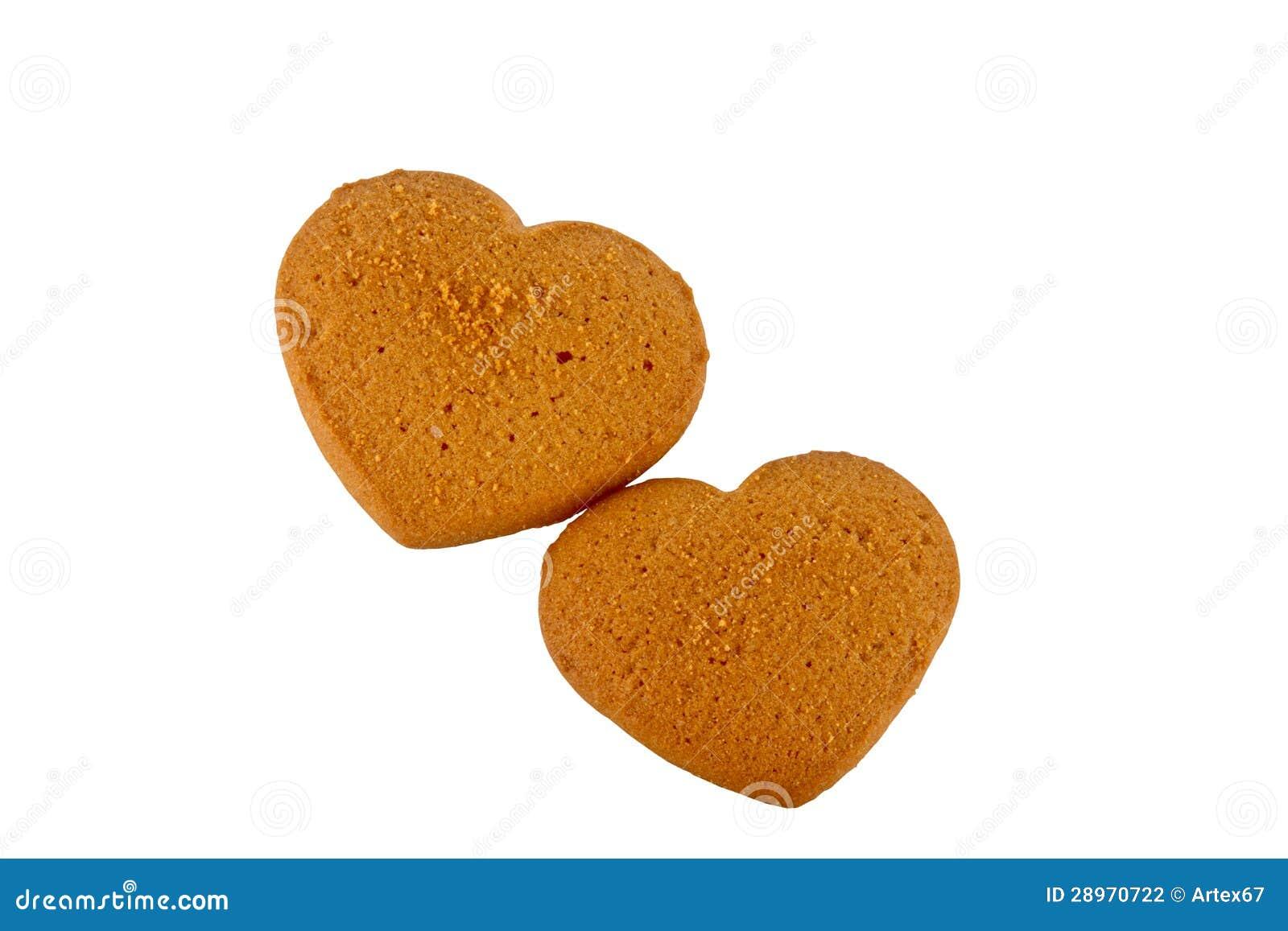 Dwa torta w formularzowych sercach w prezencie