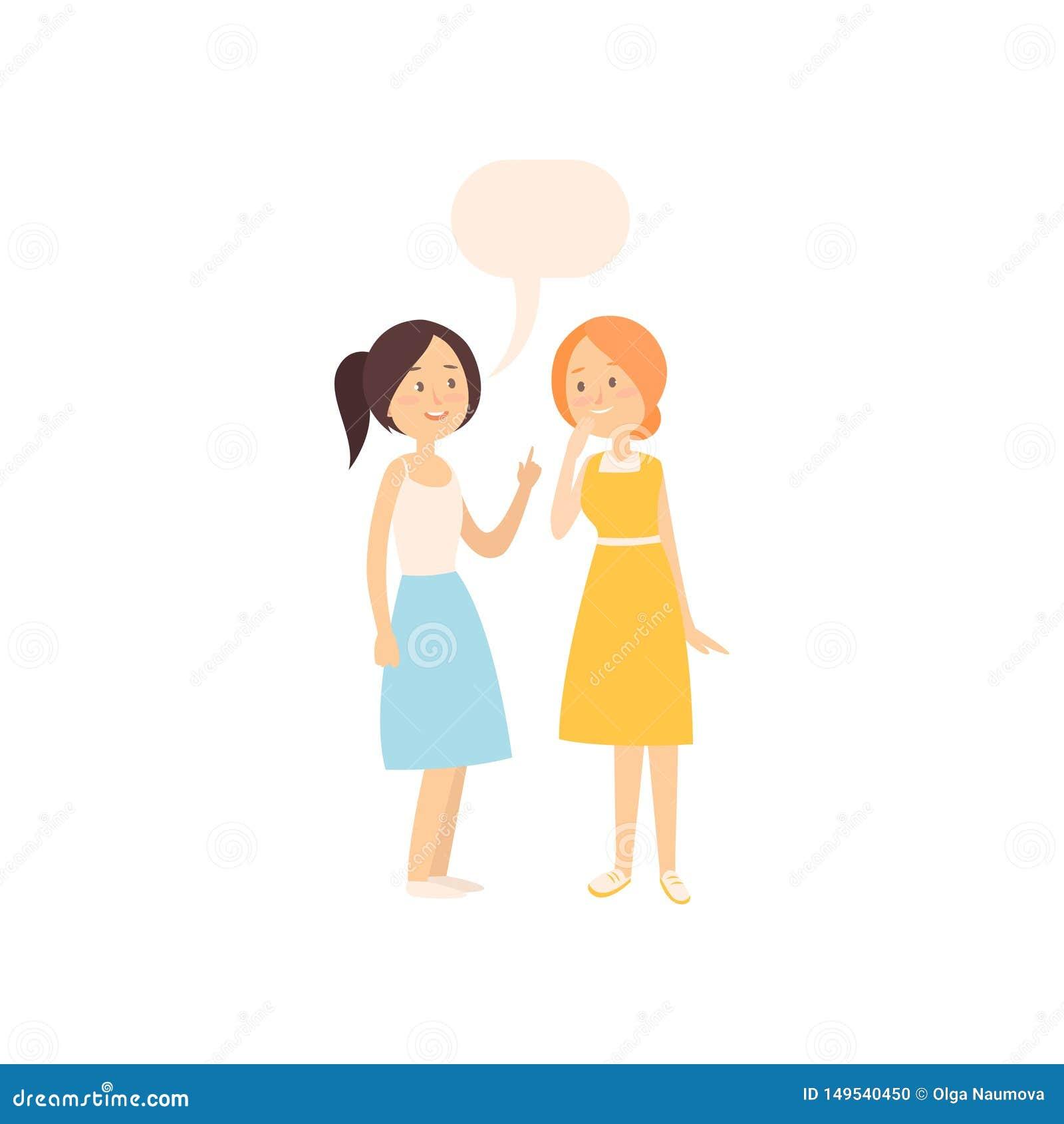 Dwa uśmiechniętej młodej dziewczyny opowiada lato czas