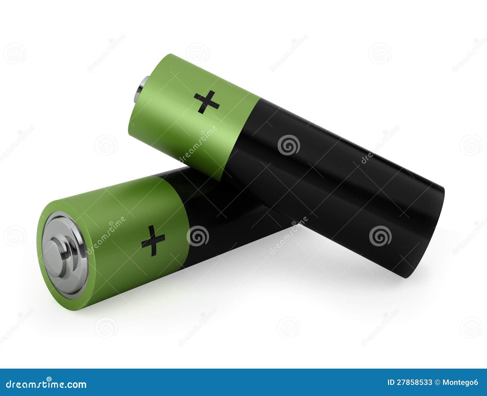 Dwa zielonej baterii