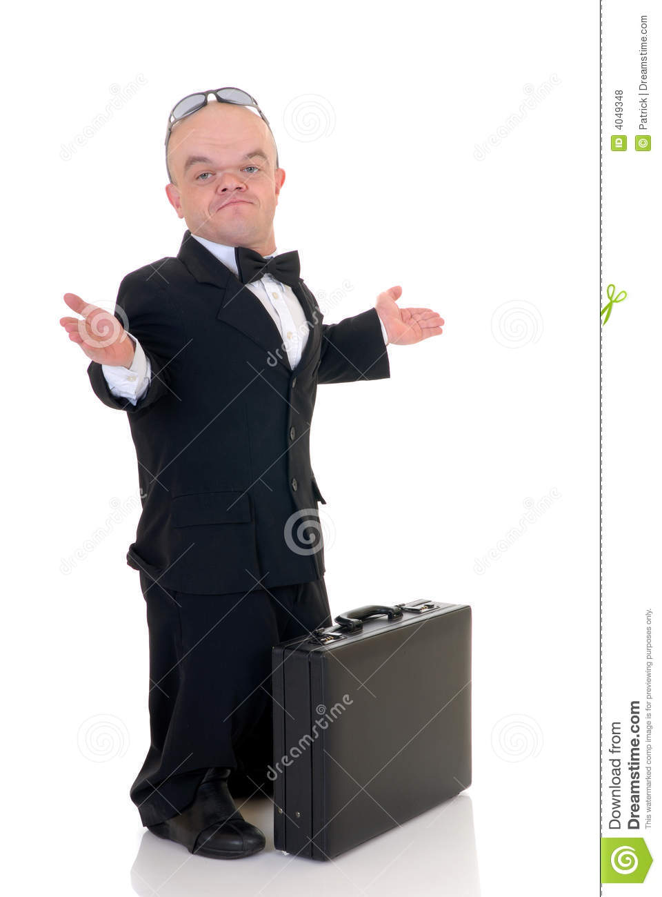 Dwarf, little businessman stock photo. Image of midget ... Dominant Man In Suit