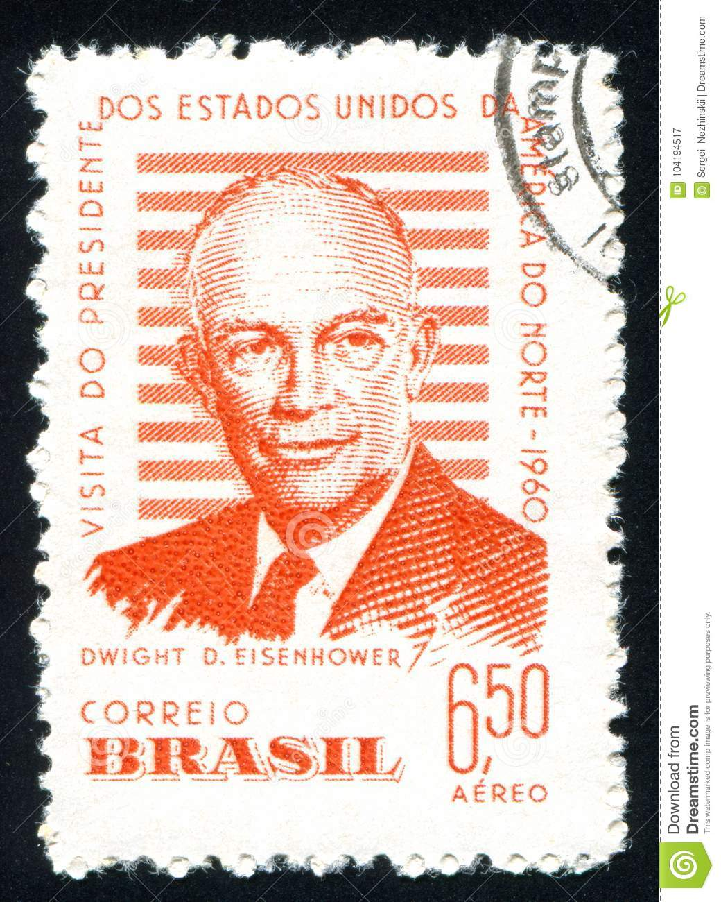 Dwight Eisenhower Printed By Brazil Editorial Photography