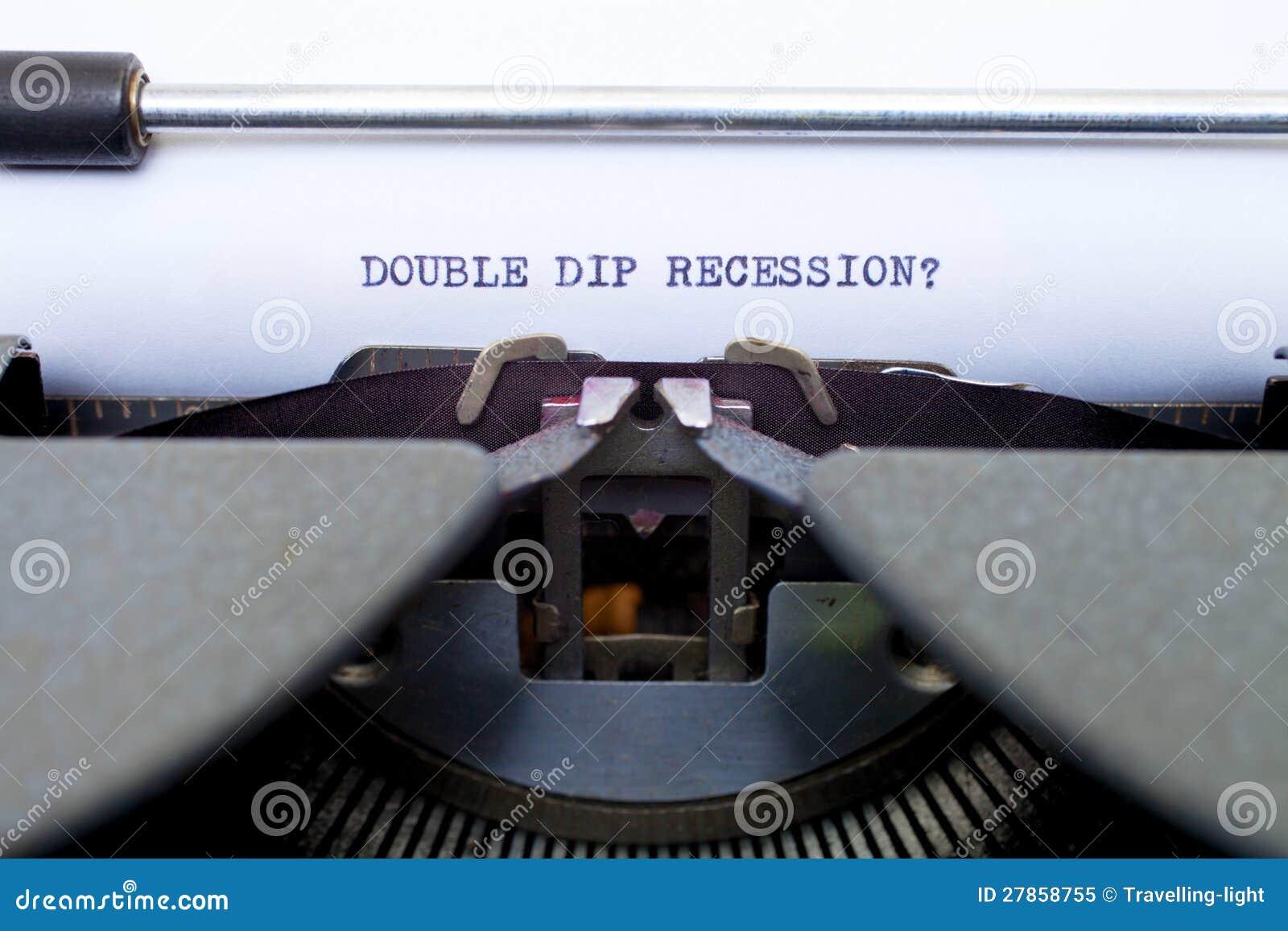 Dwoista Upadu Recesja Pisać na maszynie na Starym Maszyna do pisania
