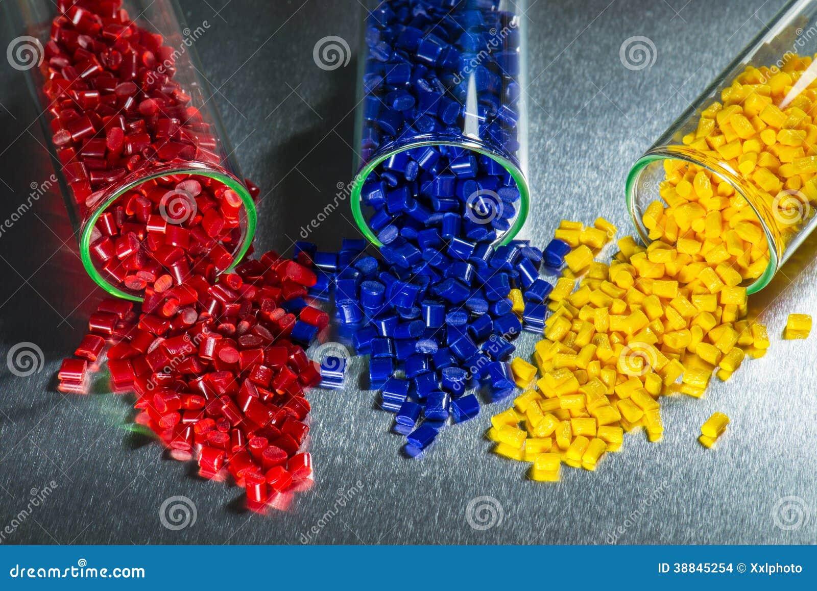 Dyed Plastic Resins Stock Photo Image 38845254