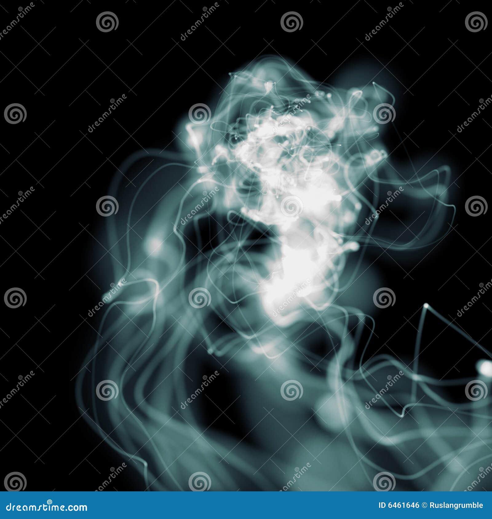Dym niebieski falisty