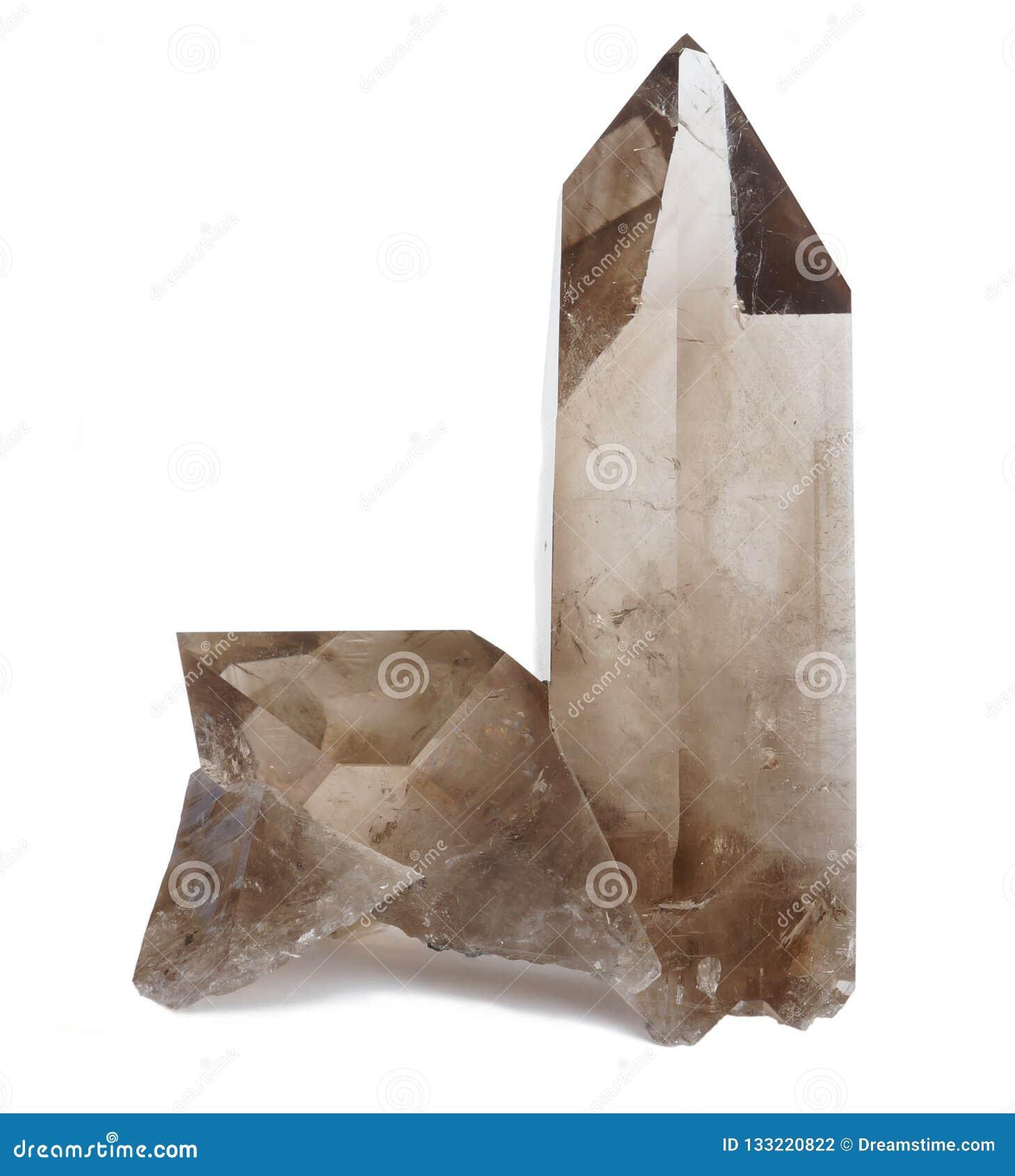 Dymiąca Kwarcowych kryształów próbka
