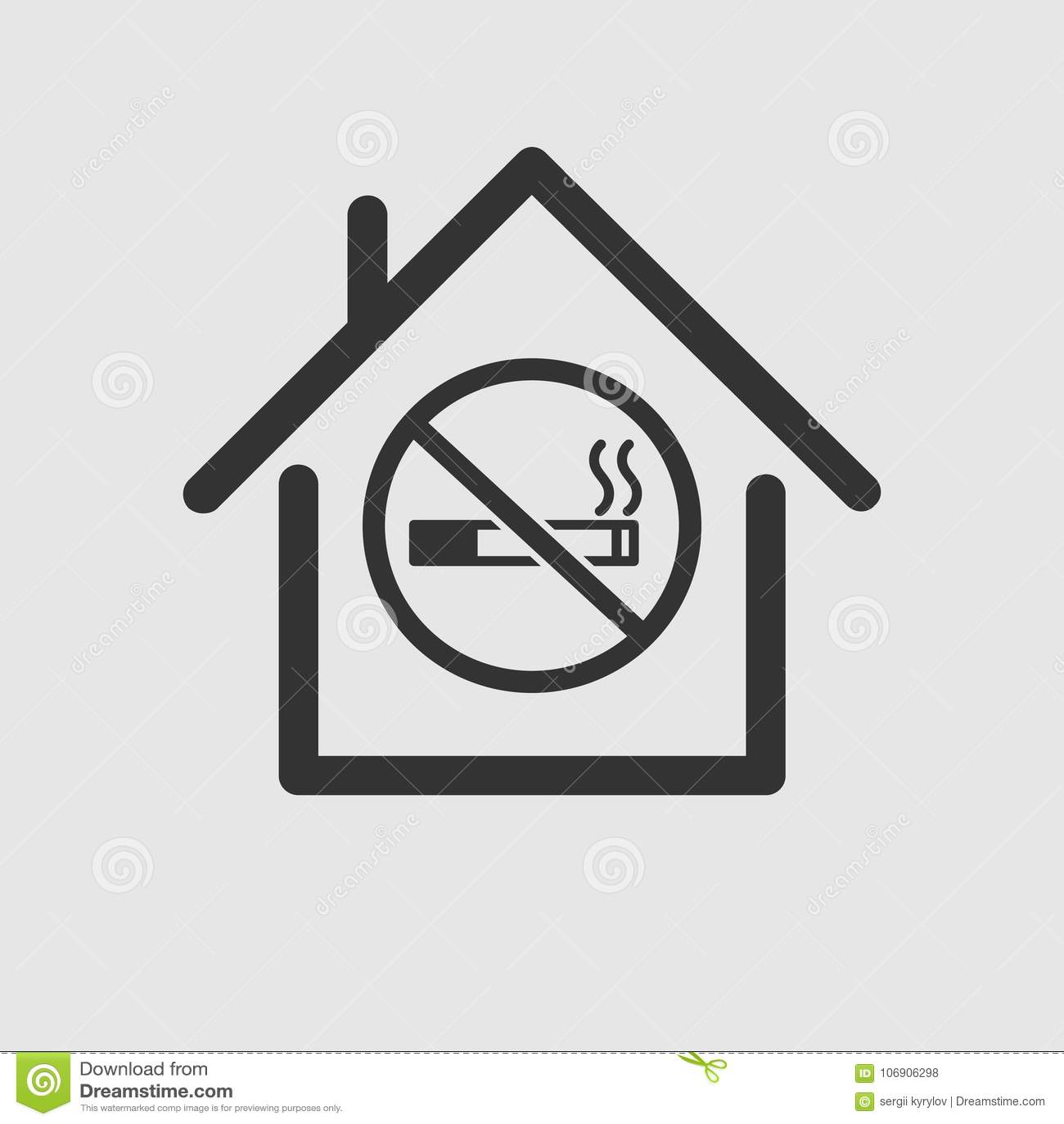 Dymić pozwolić w zamykającym terenu znaku lub domu