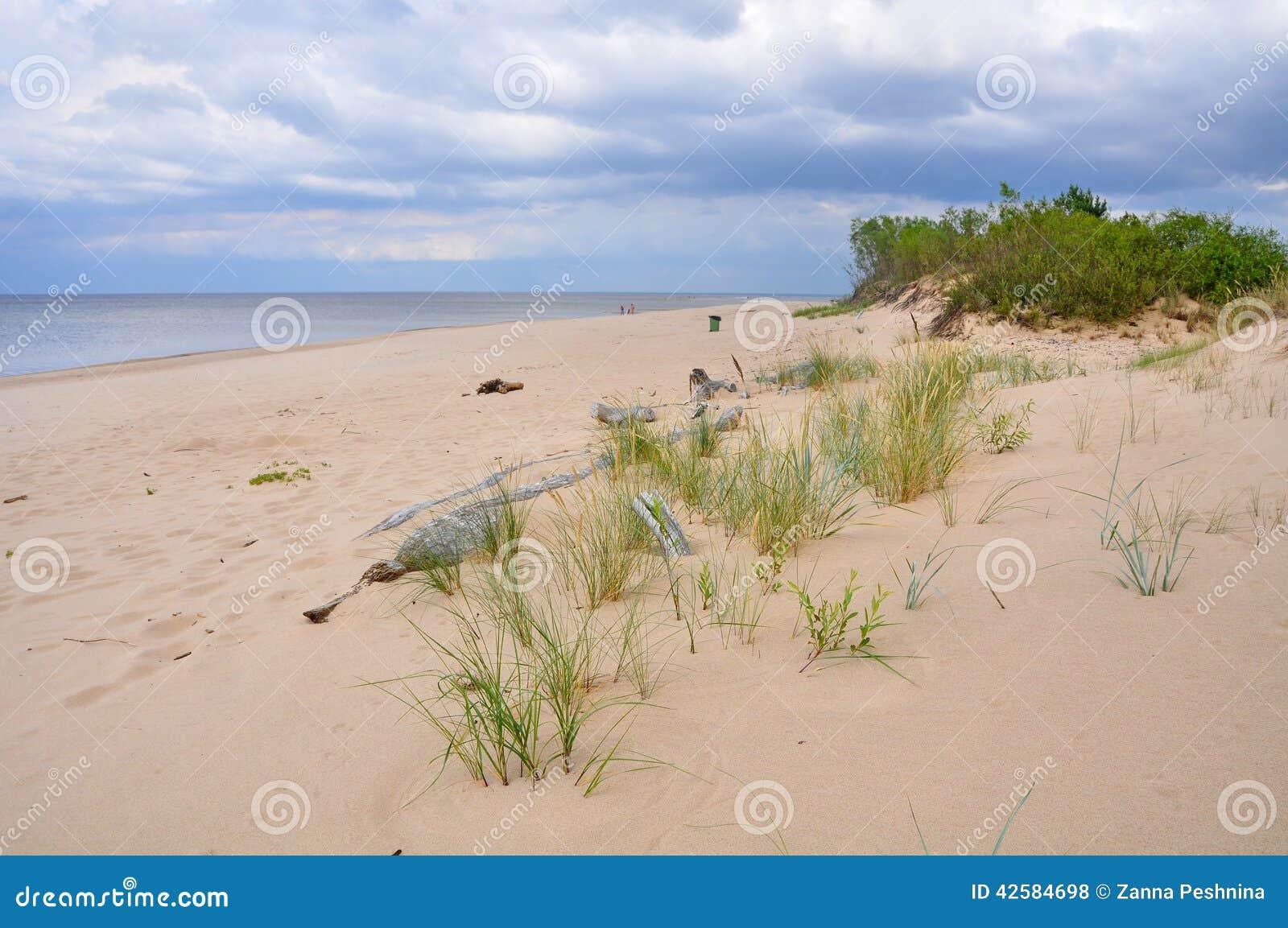 Dyn Saulkrasti, Östersjön, Lettland