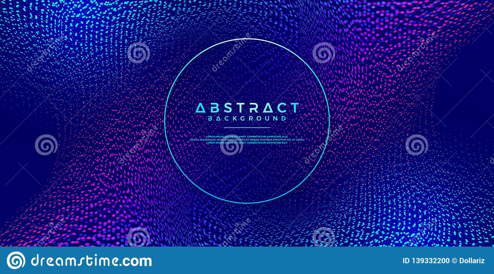 Dynamic abstract liquid flow particles background. Abstract particles background. Eps10 Vector background
