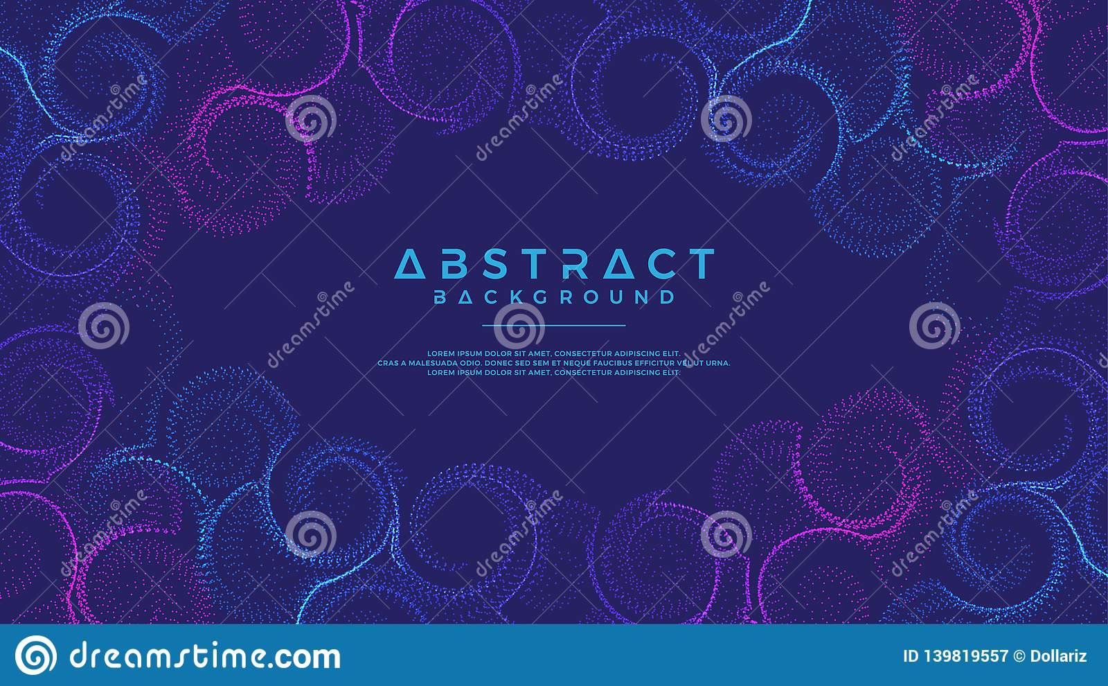 Dynamic abstract liquid flow particles background. Shining abstract particle flow background. Eps10 Vector background