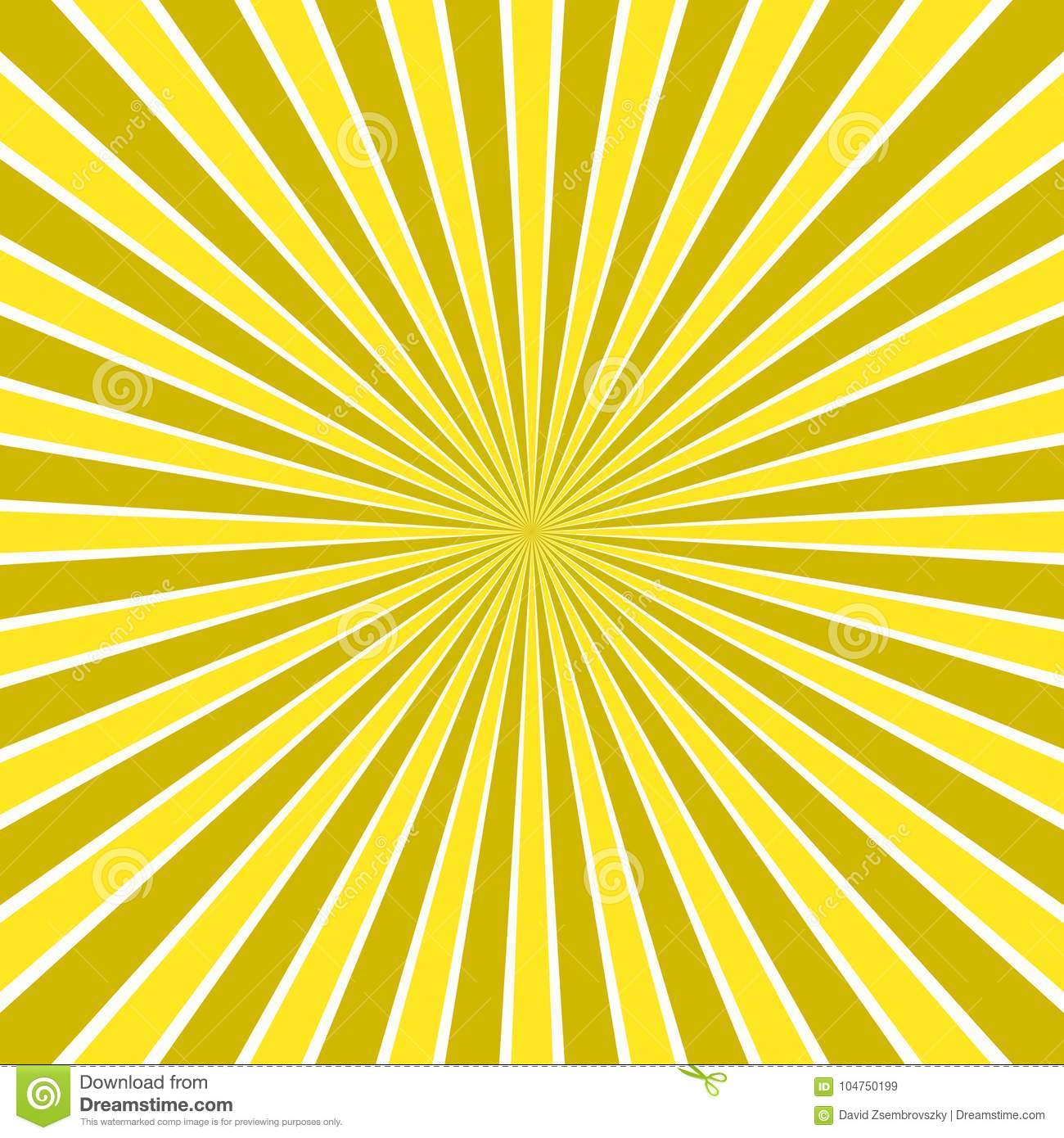 Dynamic abstract sun rays background - comic vector design from radial stripe pattern