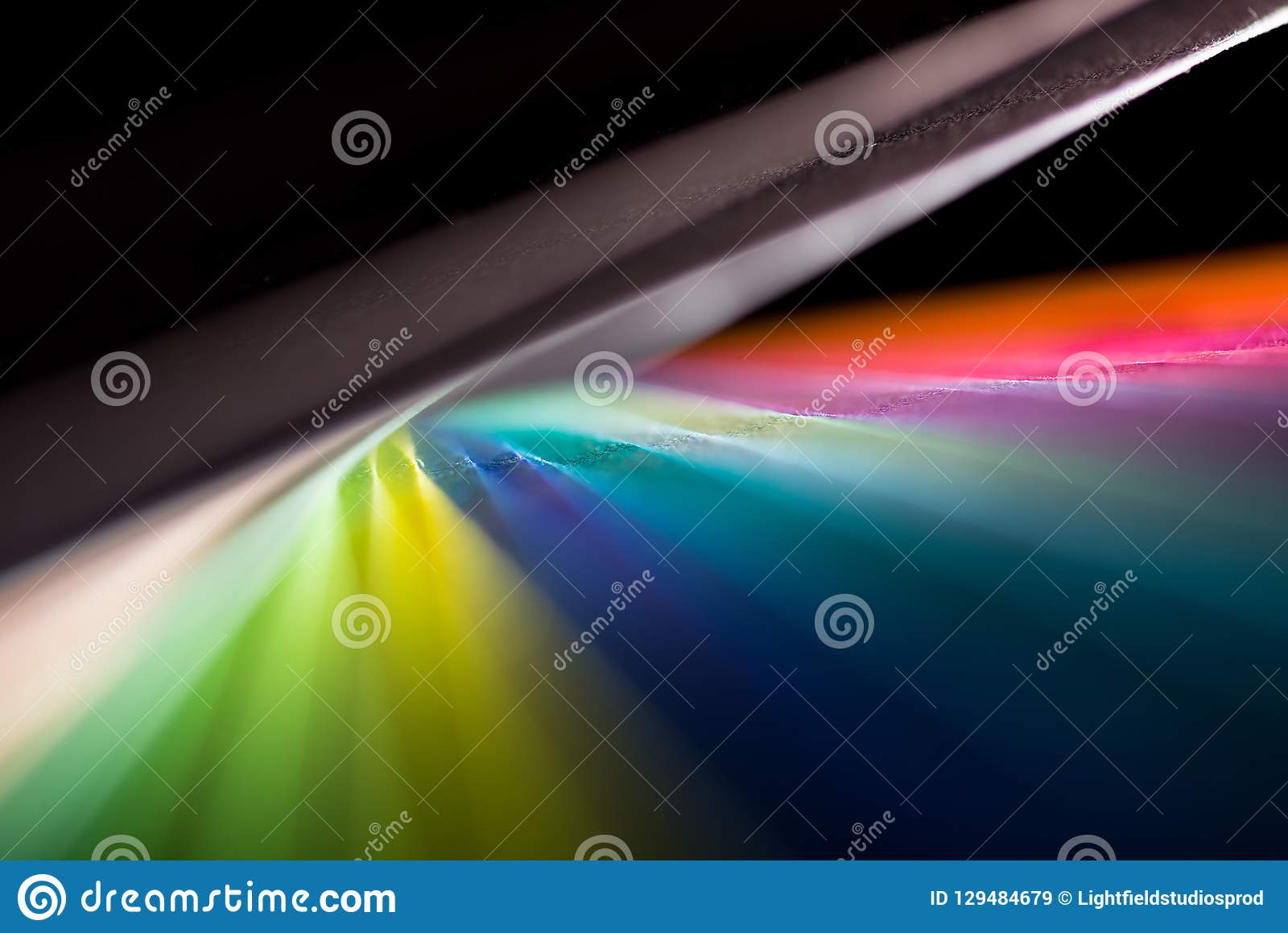 Dynamic Composition Of Colorful Papers Stock Image - Image of visual