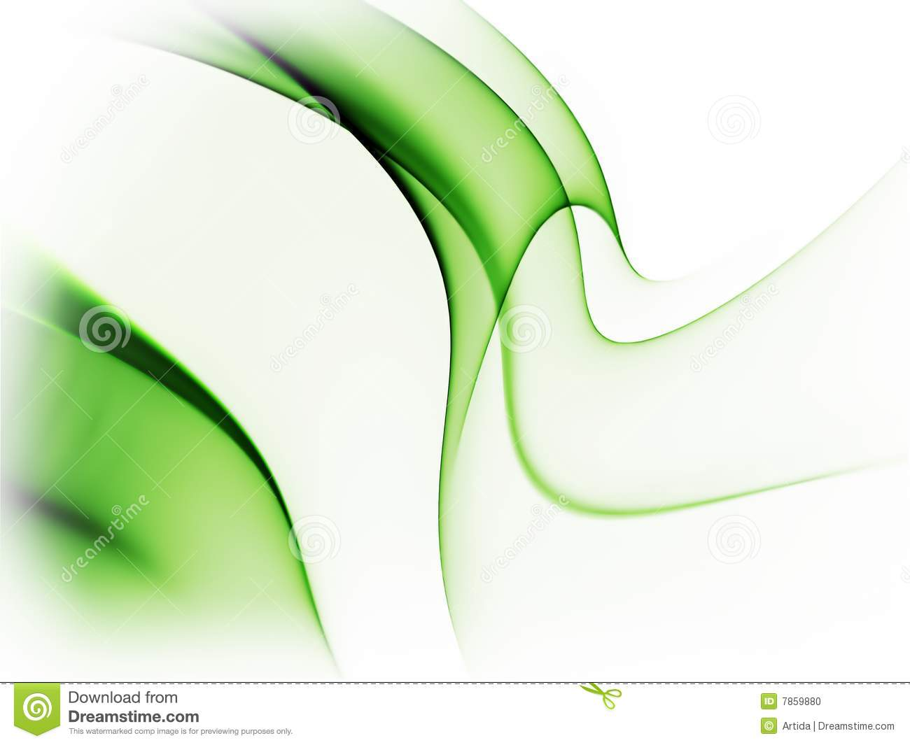 Fondo Blanco Con Verde: Dynamic Green Abstract Background On White Stock