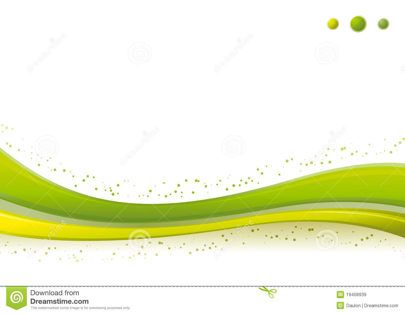Dynamic Green Wave/Points Background Template. Stock ...