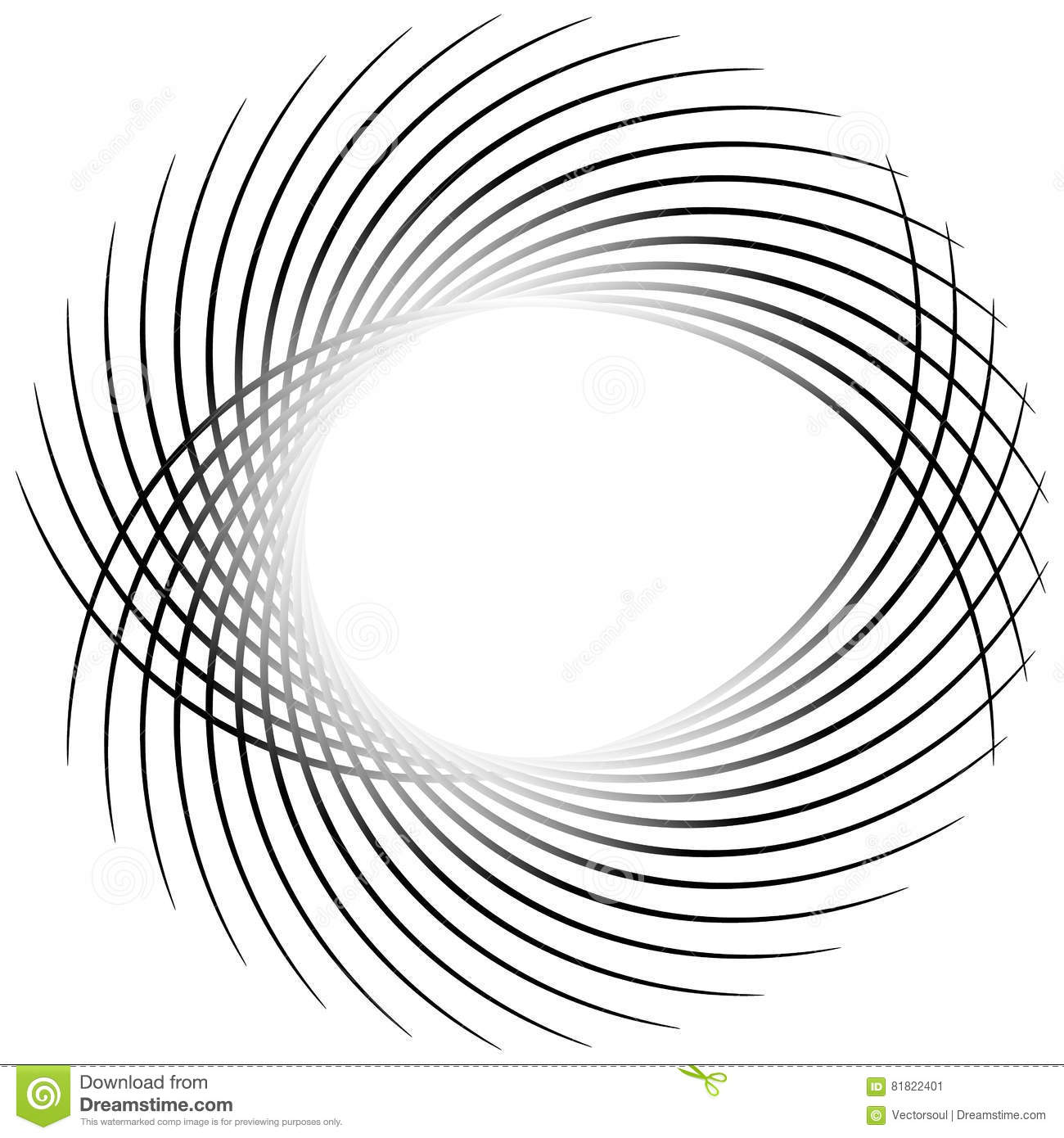 Dynamic Irregular Lines Forming A Circle Element  Geometric