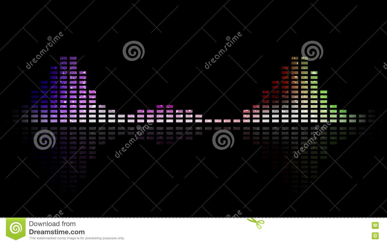 Dynamic Music VU Meters And Waves  Multicolored  Seamless