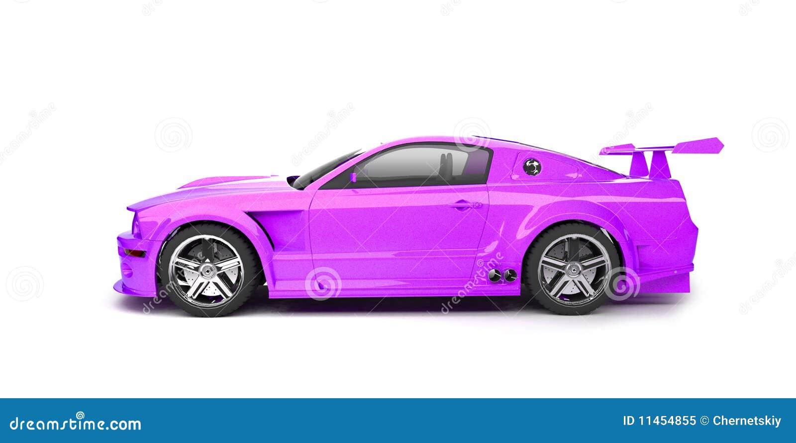 Dynamic Purple Sport Car Side View Stock Illustration Illustration