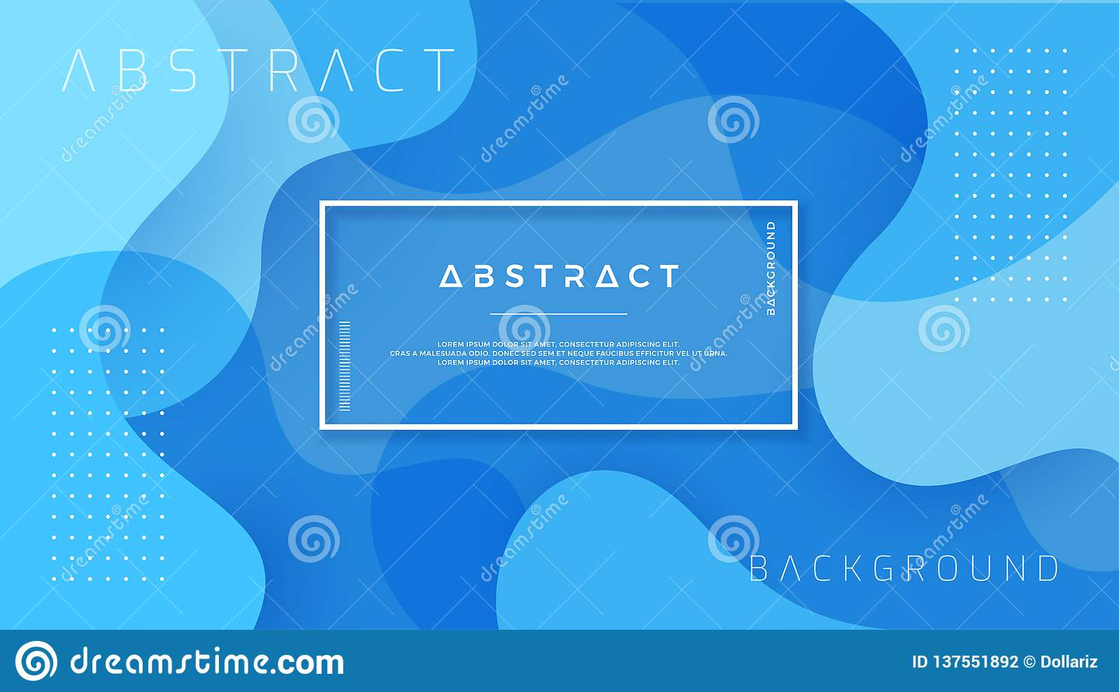 Dynamic textured background design in 3D style with blue color. EPS10 Vector background