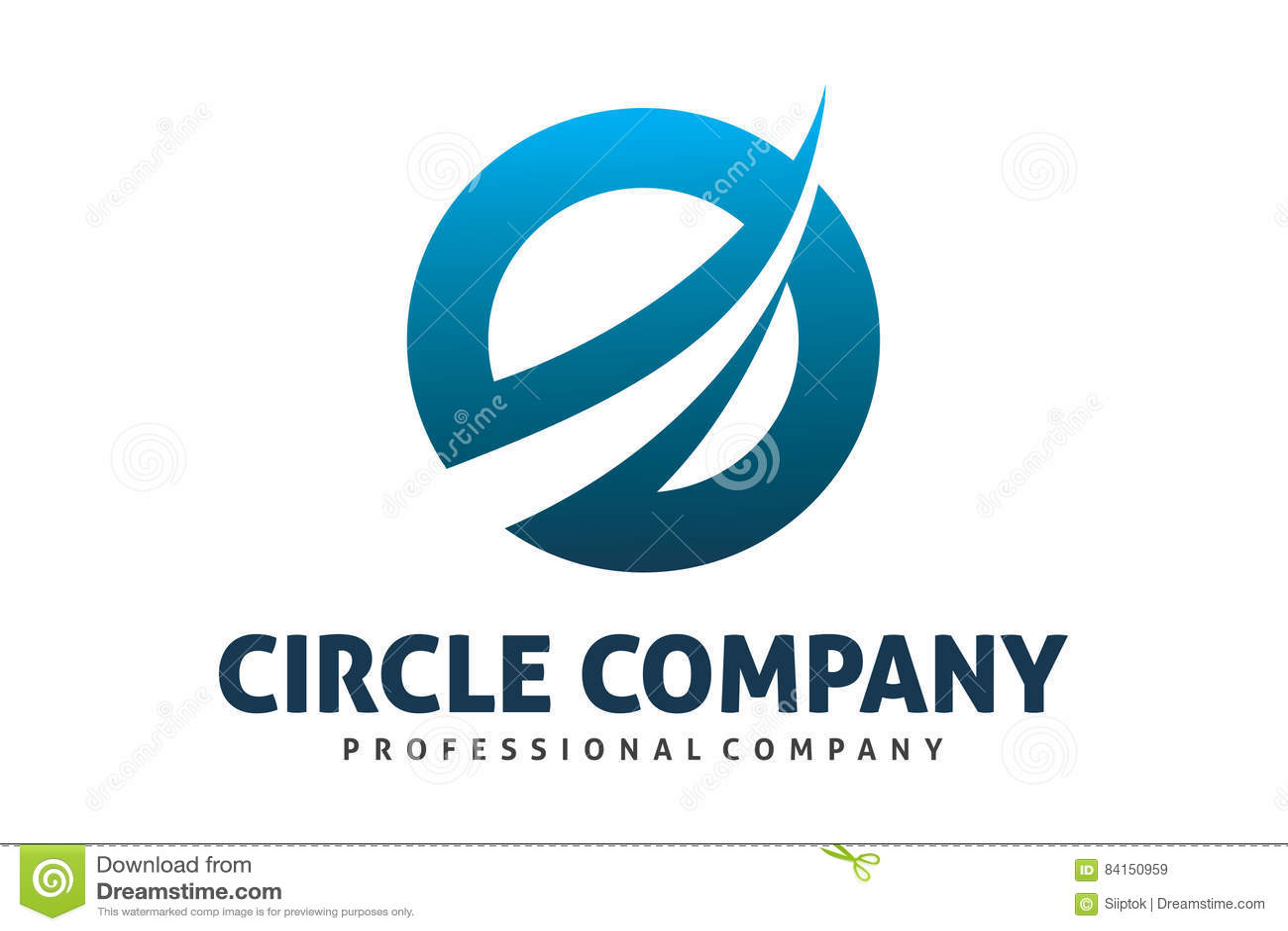 Dynamiczny okręgu logo