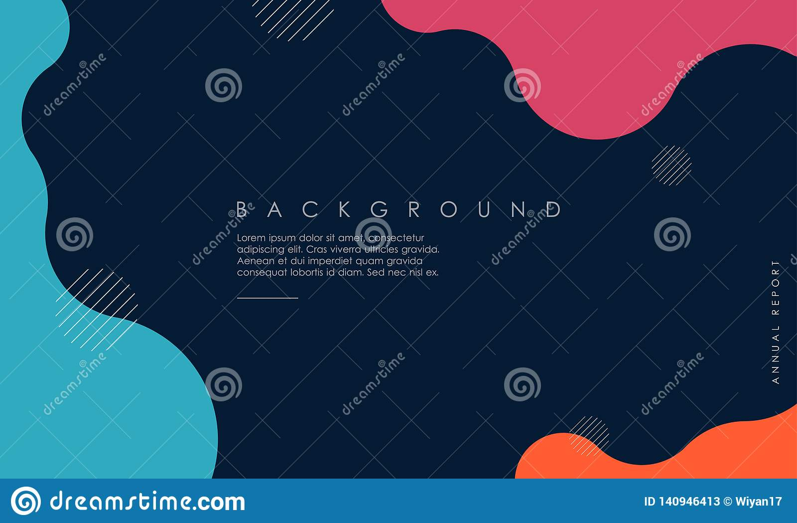 Dynamisch geweven ontwerp als achtergrond in 3D stijl met blauwe, roze, oranje kleur
