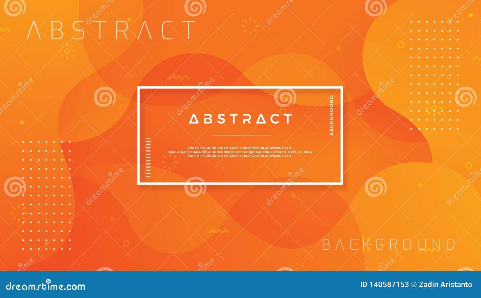 Dynamisch geweven ontwerp als achtergrond in 3D stijl met oranje kleur Eps10 vectorachtergrond