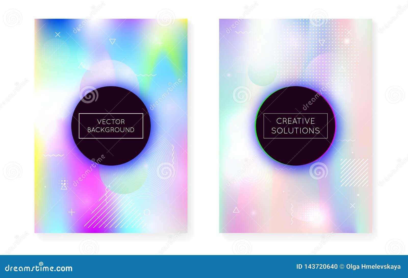 Dynamische vormachtergrond met vloeibare vloeistof Holografische bauhaus
