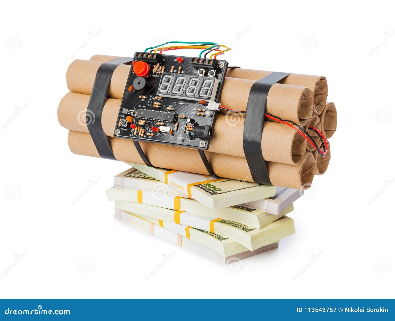 Dynamit bombarderar och pengar