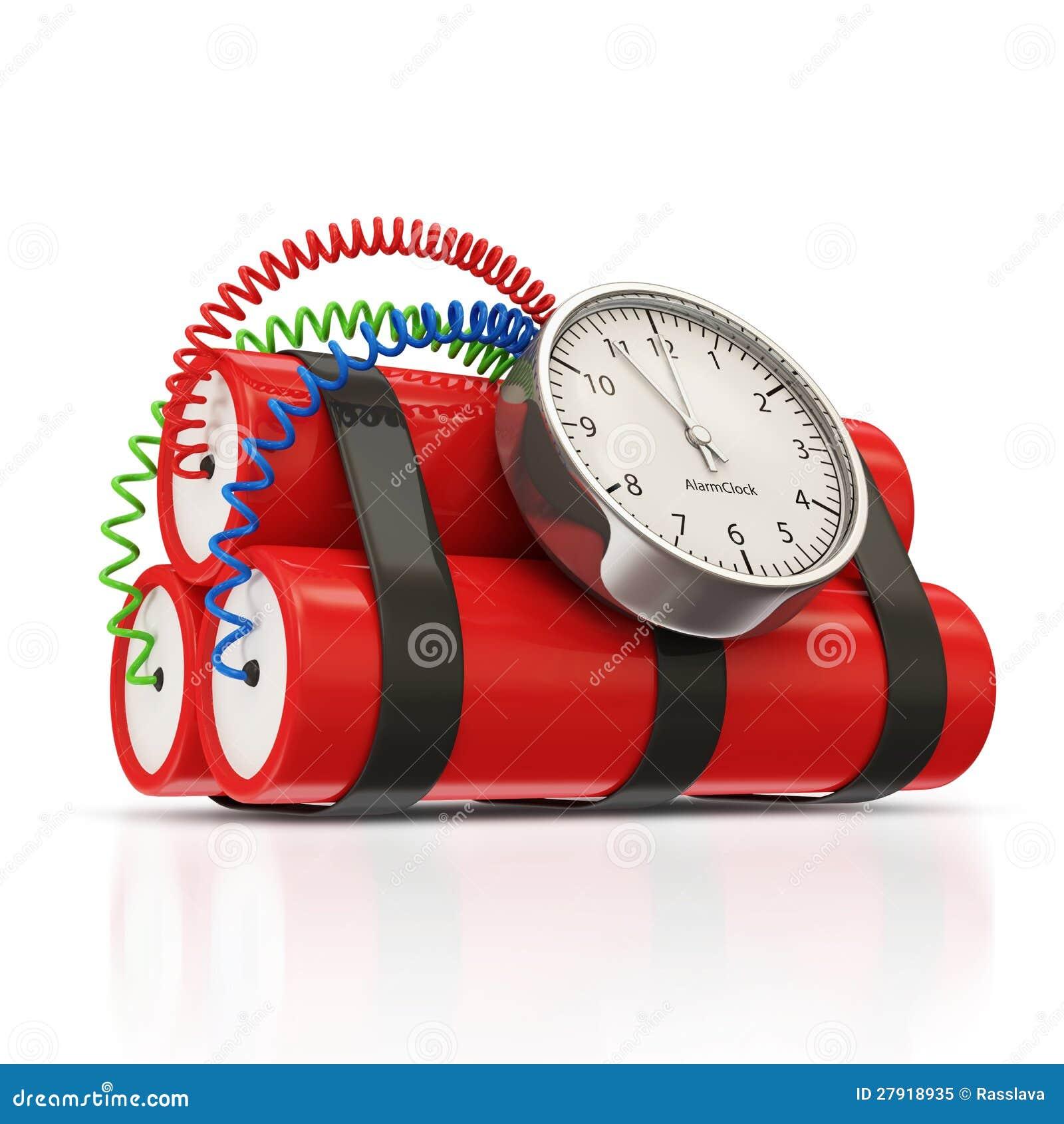dynamit bombe mit uhr timer stock abbildung bild 27918935. Black Bedroom Furniture Sets. Home Design Ideas