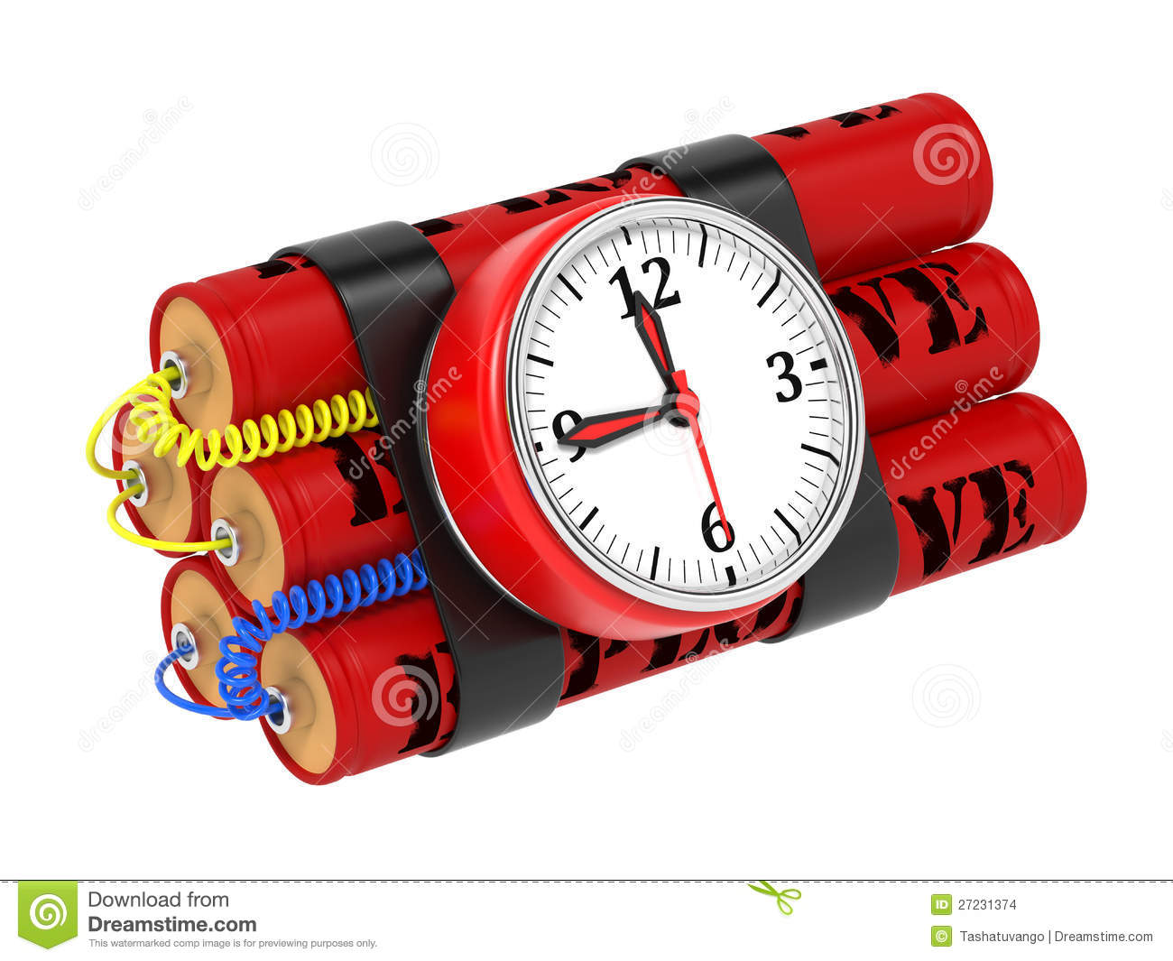 More similar stock images of ` Dynamite Bomb with Clock Timer. `