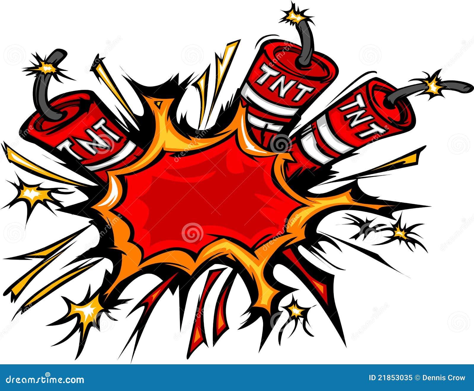 Dynamite Explosion Cartoon Illustration Stock Vector ...