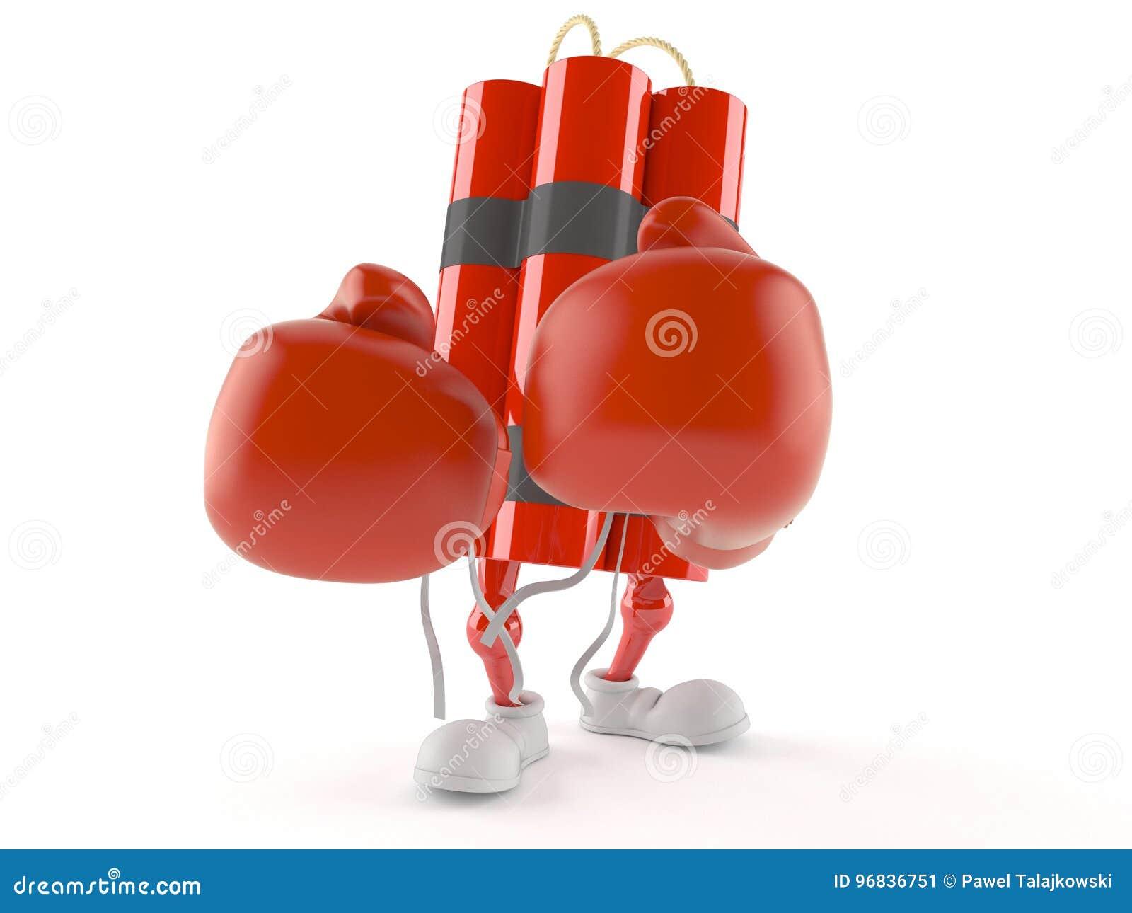 Dynamittecken med boxninghandskar
