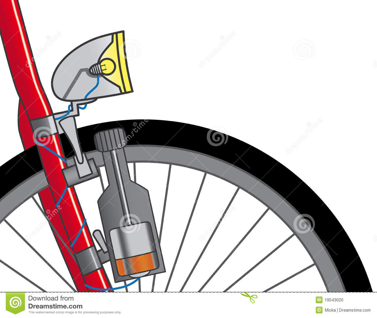 Dynamo On A Bicycle Stock Photo Image 19543020