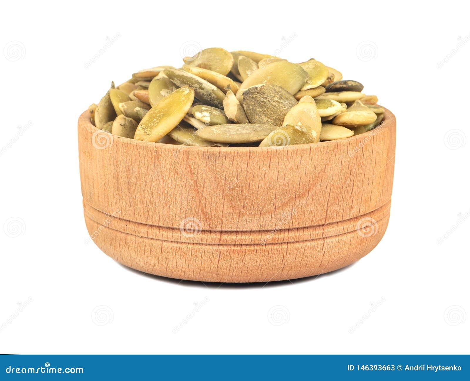 Dyniowego ziarna nasiona w pucharze