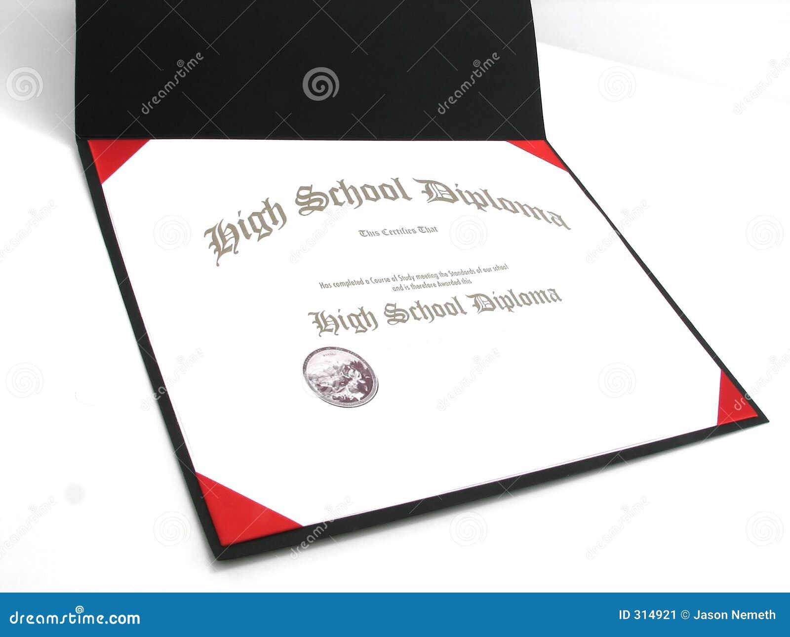 Dyplom szkoły średniej rodzajowa
