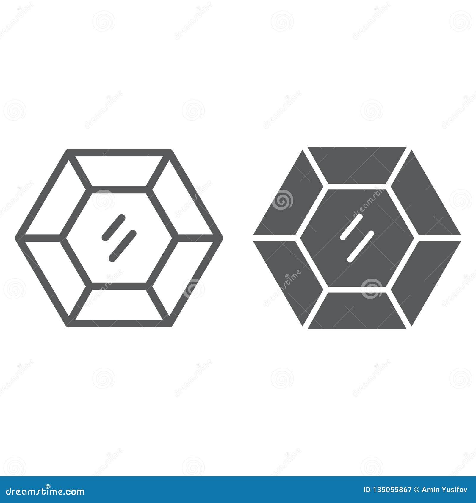 Dyrbar gemstonelinje och skårasymbol, smycken och diamant, briljant tecken, vektordiagram, en linjär modell på a