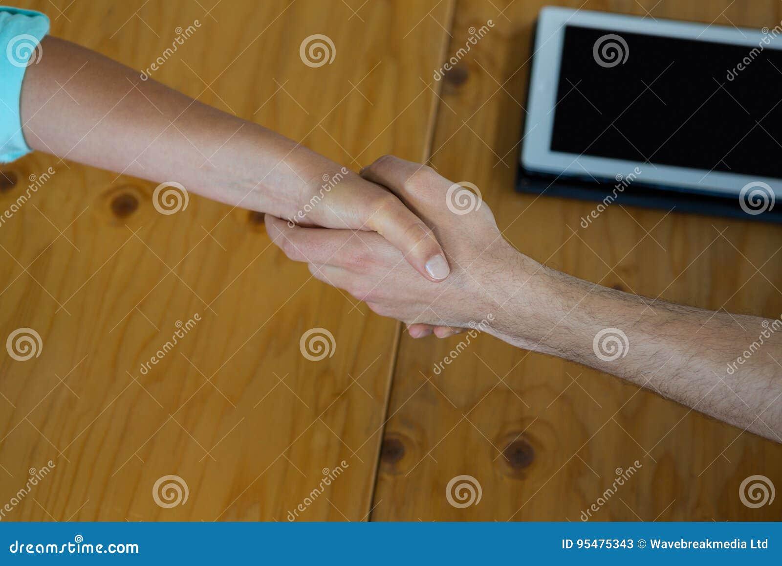 Dyrektory wykonawczy trząść ręki podczas spotkania