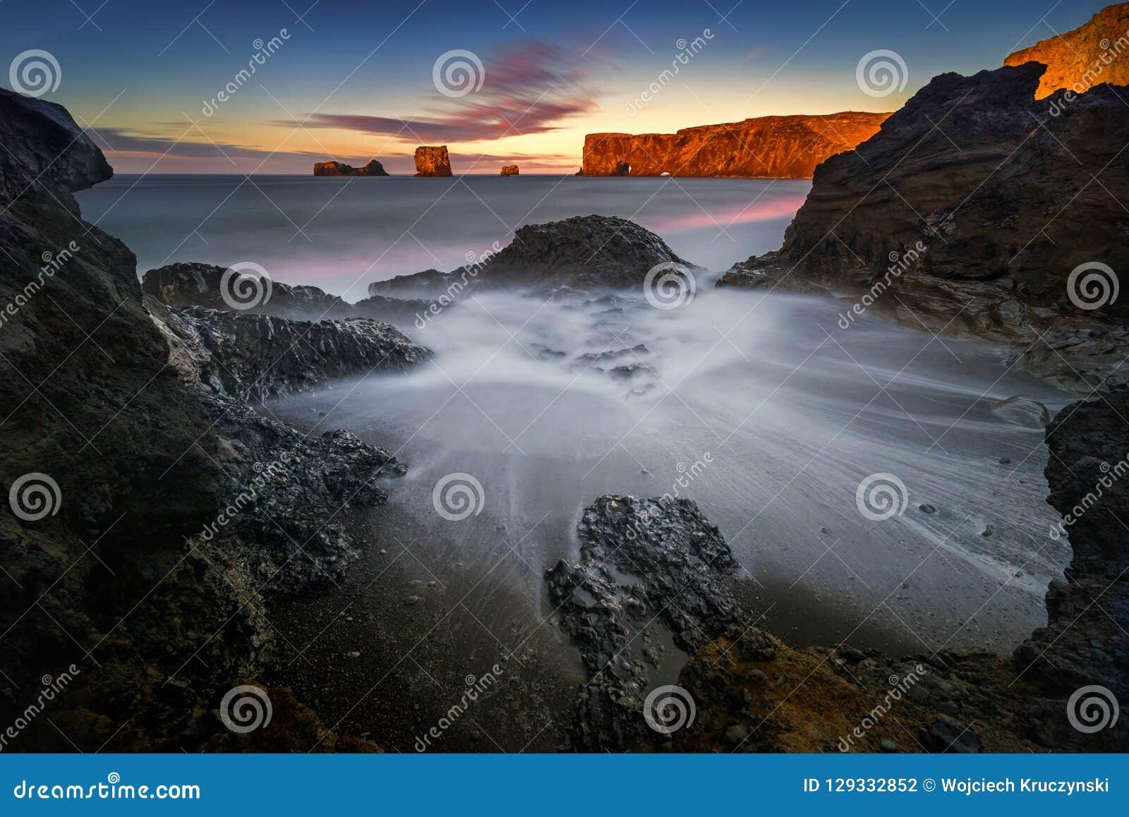 Dyrholaey Dawn Beach