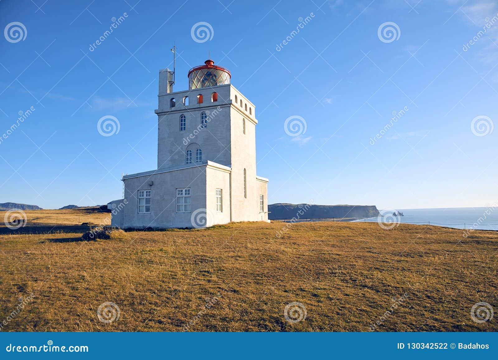 The Dyrholaey lighthouse