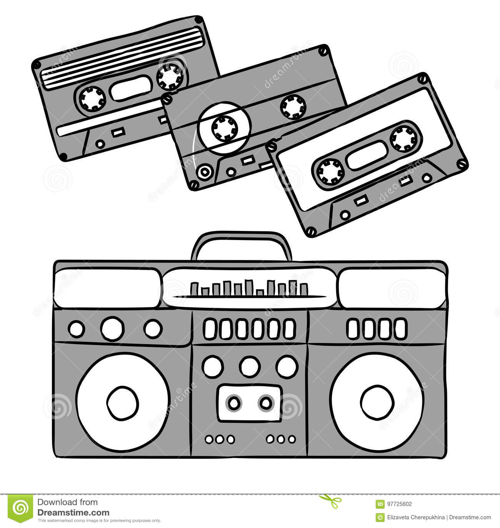 1980 dyskoteka Dokumentacyjny gracz i audio kasety