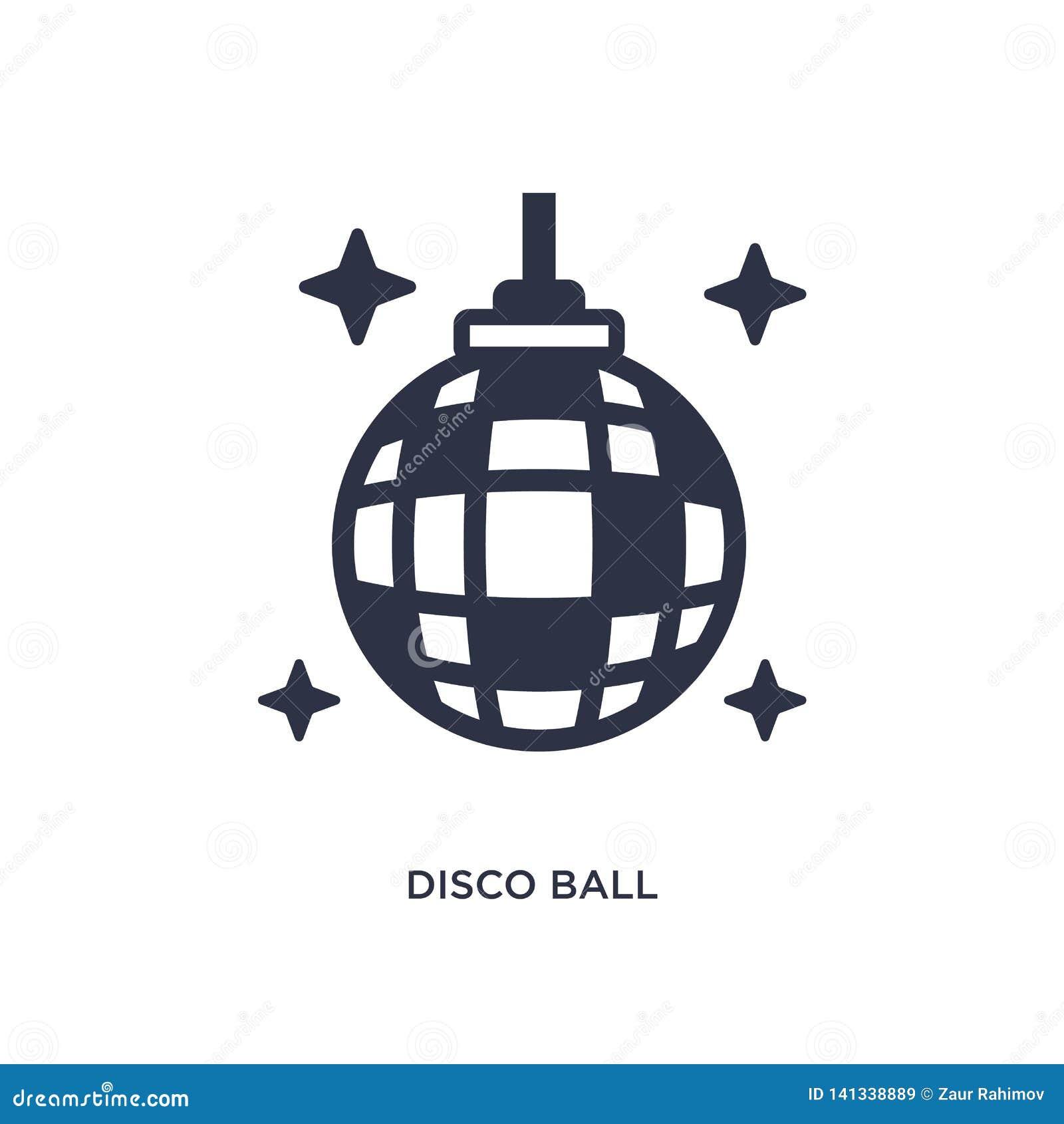 Dyskoteki balowa ikona na białym tle Prosta element ilustracja od czasu wolnego pojęcia