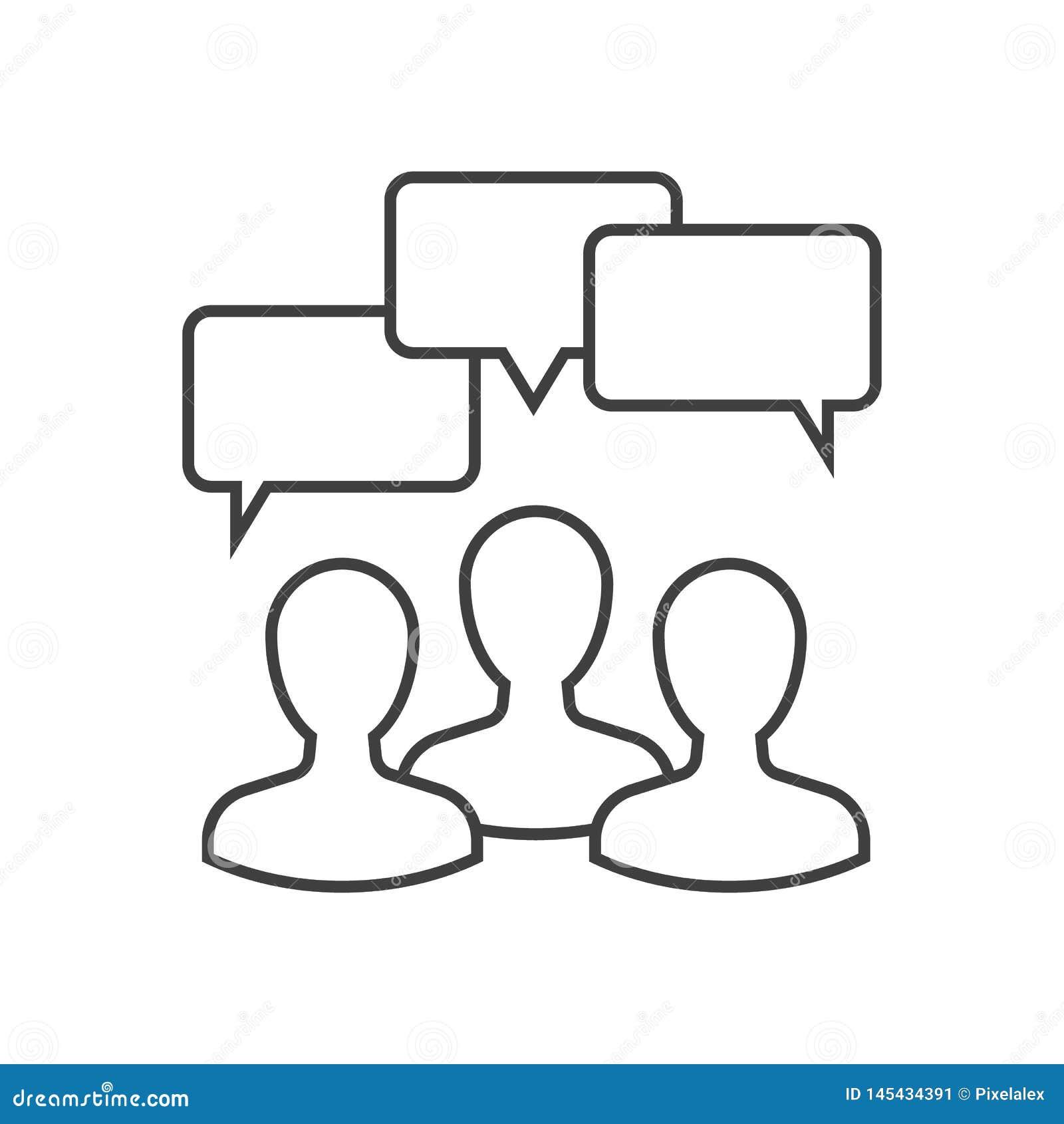 Dyskusja konturu ikona