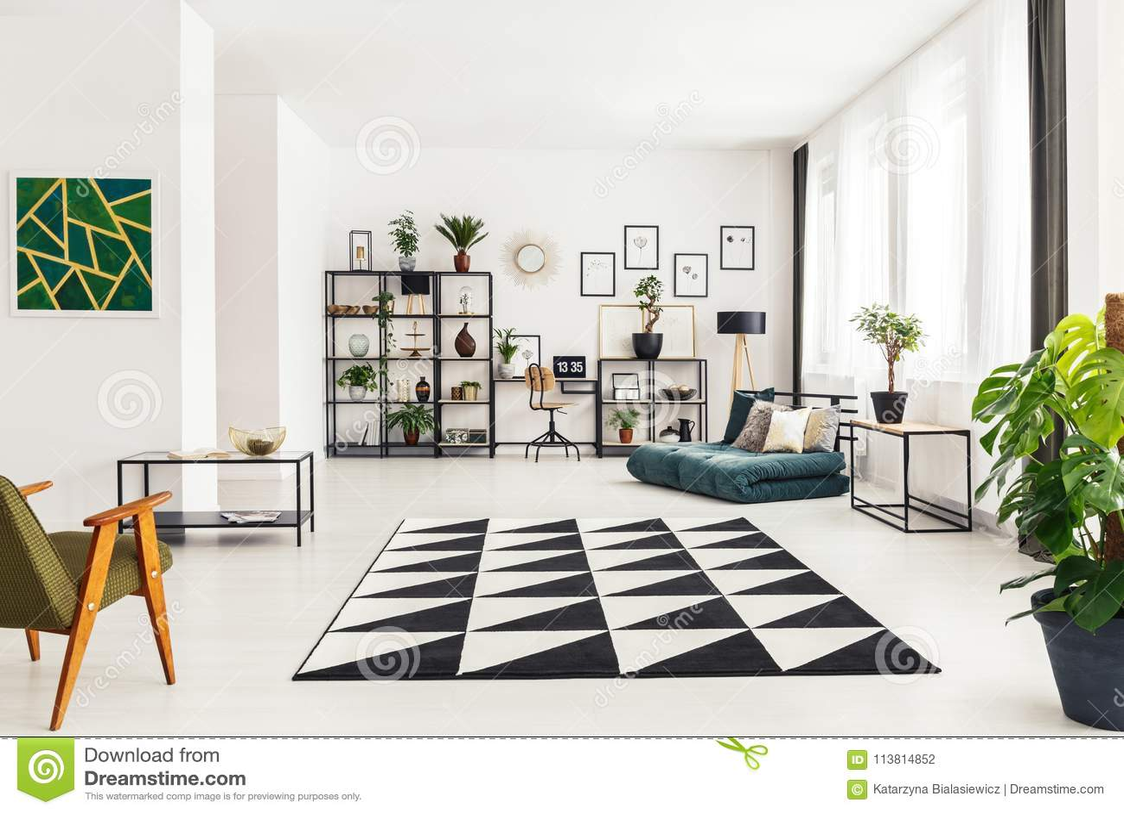 Dywanik w żywym pokoju