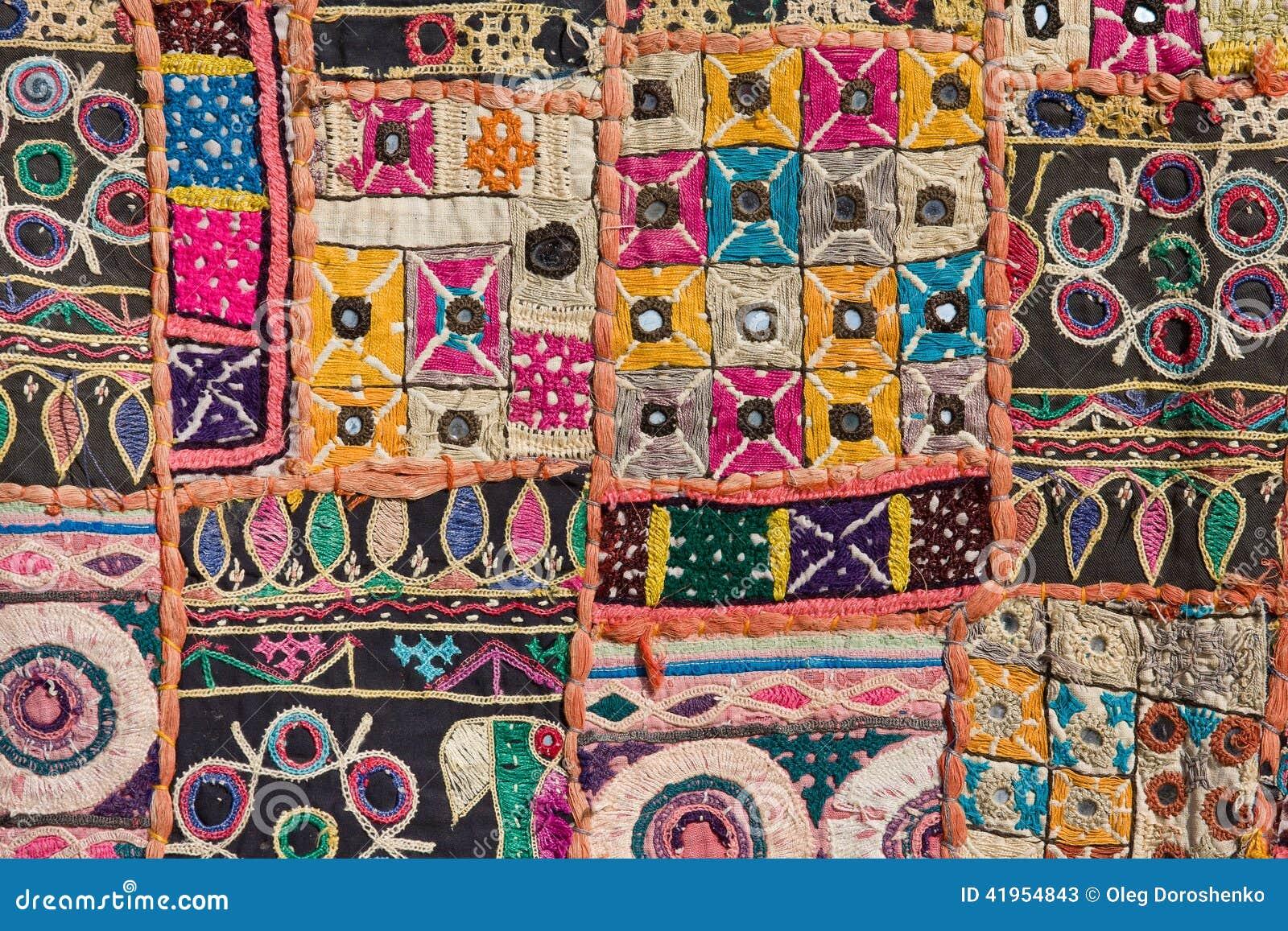 Dywanowy indyjski patchwork
