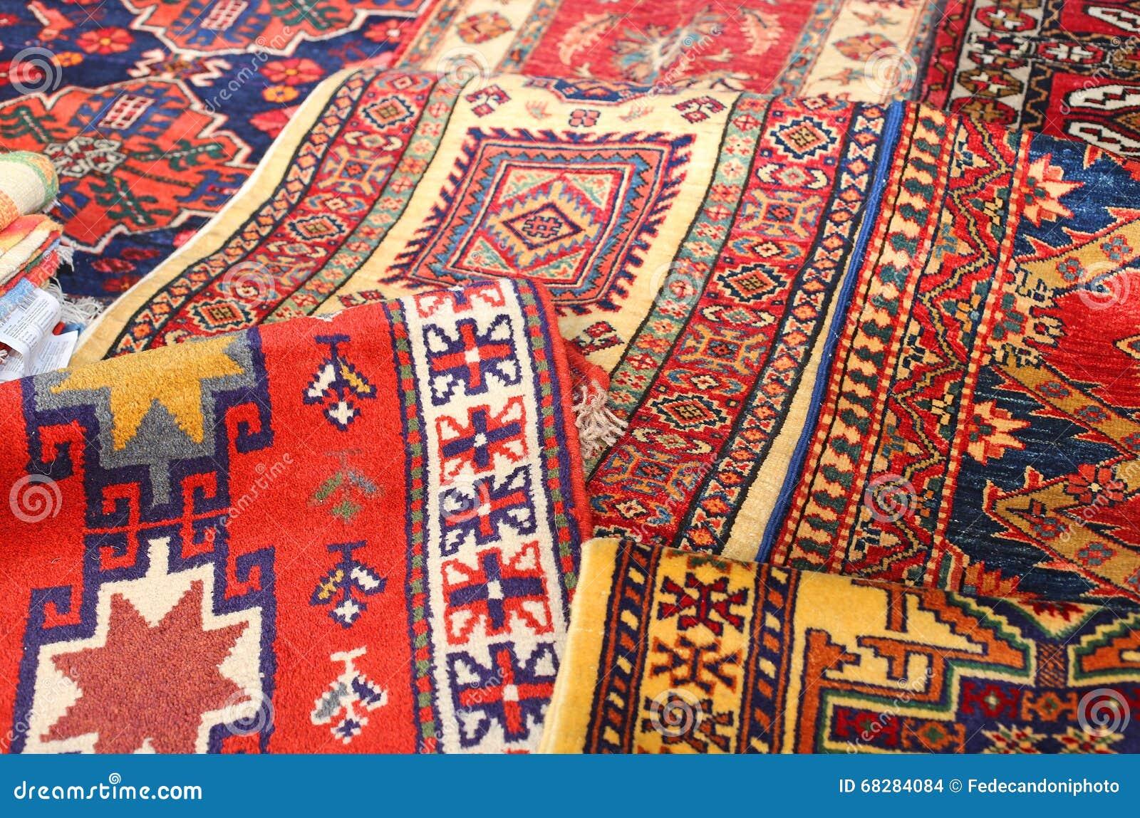 Dywany Robić Ręką W środkowy Wschód Zdjęcie Stock Obraz